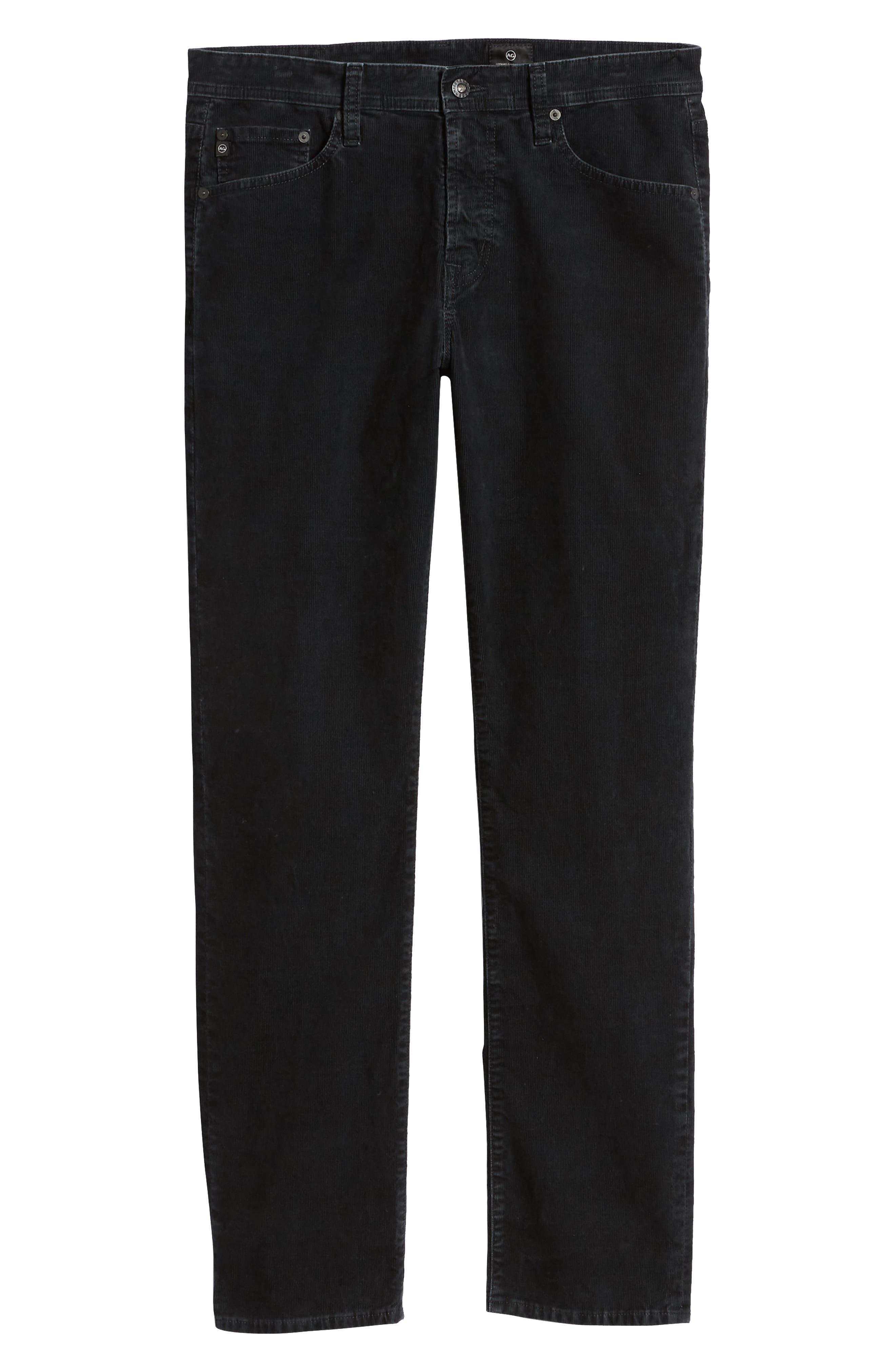 Everett Straight Leg Corduroy Pants,                             Alternate thumbnail 6, color,                             SULFUR ASH BLACK