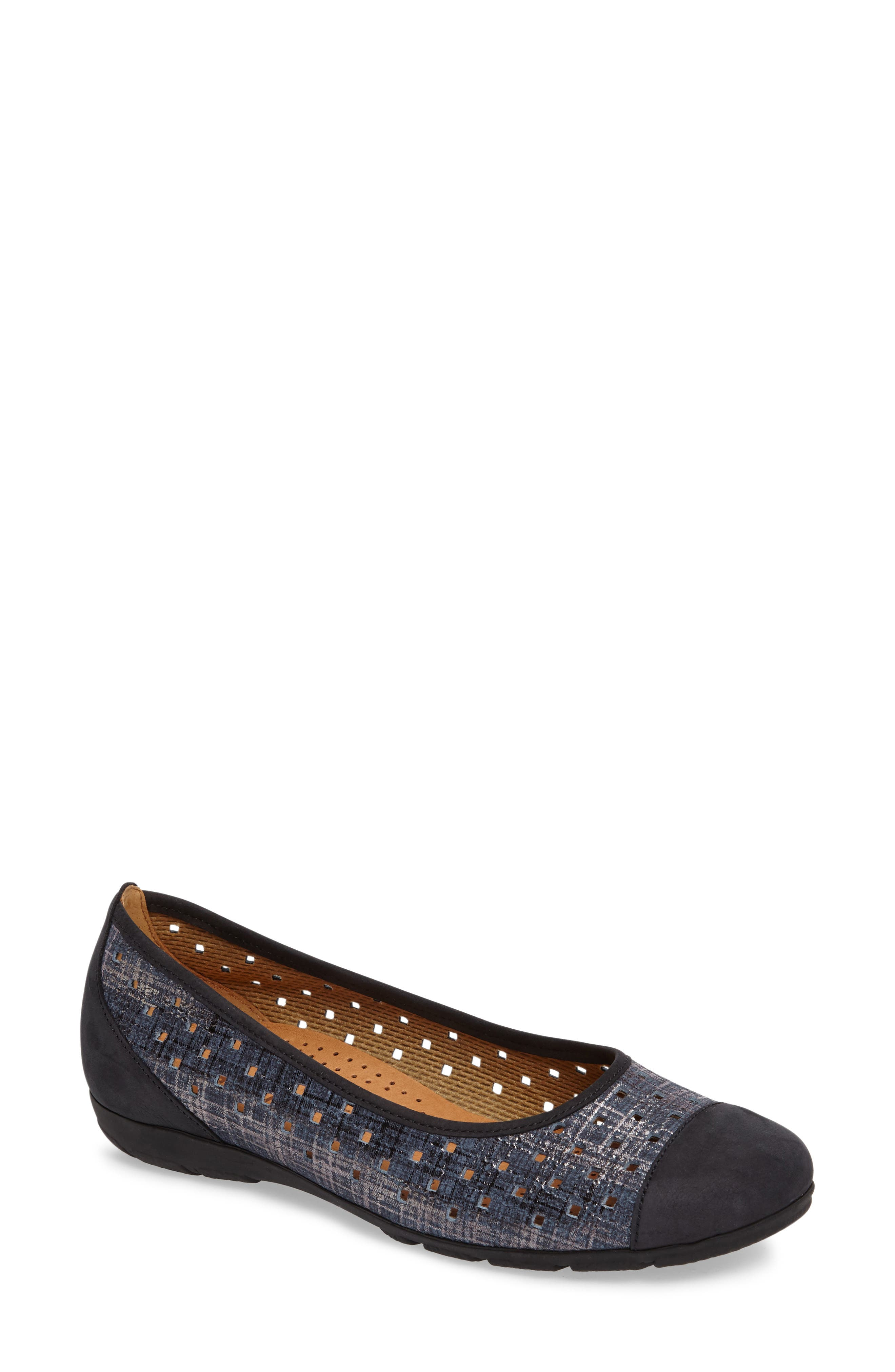 Cap Toe Ballet Flat,                             Main thumbnail 4, color,