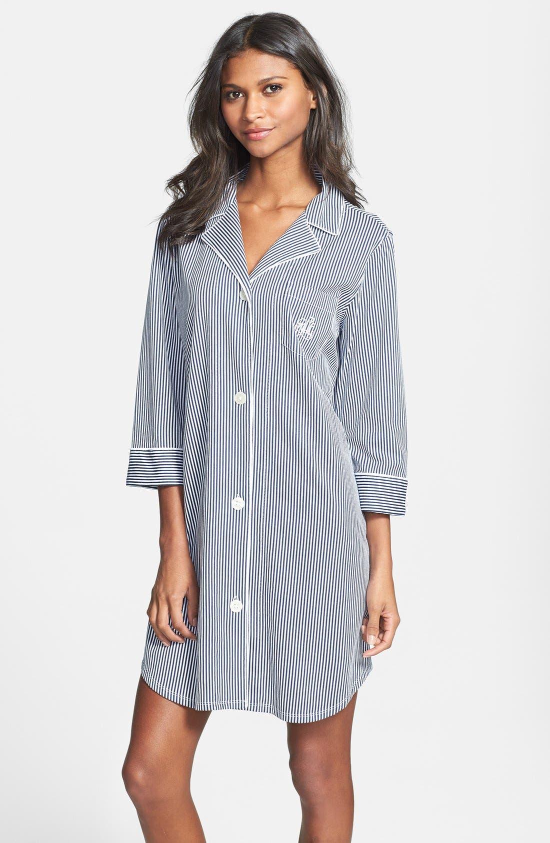 Jersey Sleep Shirt,                             Main thumbnail 2, color,