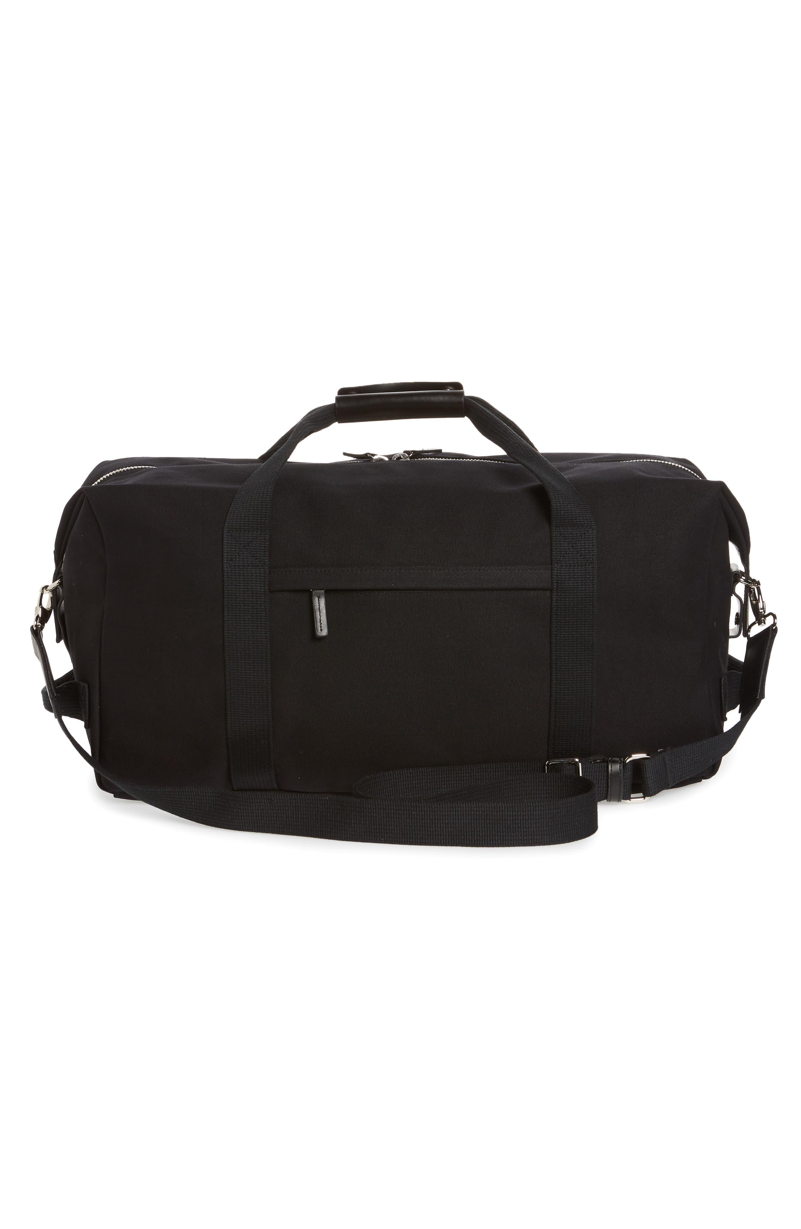 Norfolk Water Repellent Duffel Bag,                             Alternate thumbnail 3, color,                             BLACK