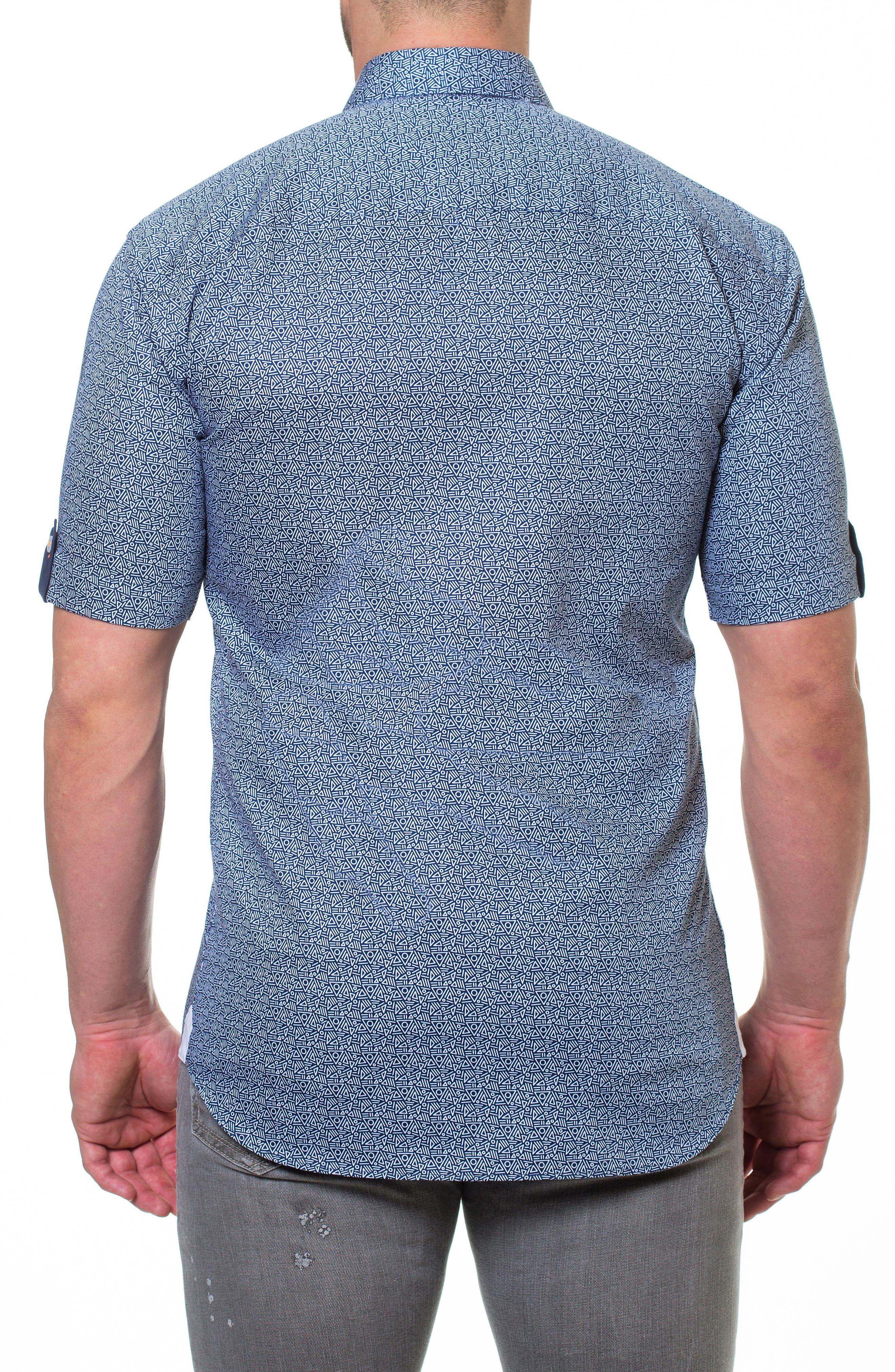Fresh Aztec Print Sport Shirt,                             Alternate thumbnail 2, color,