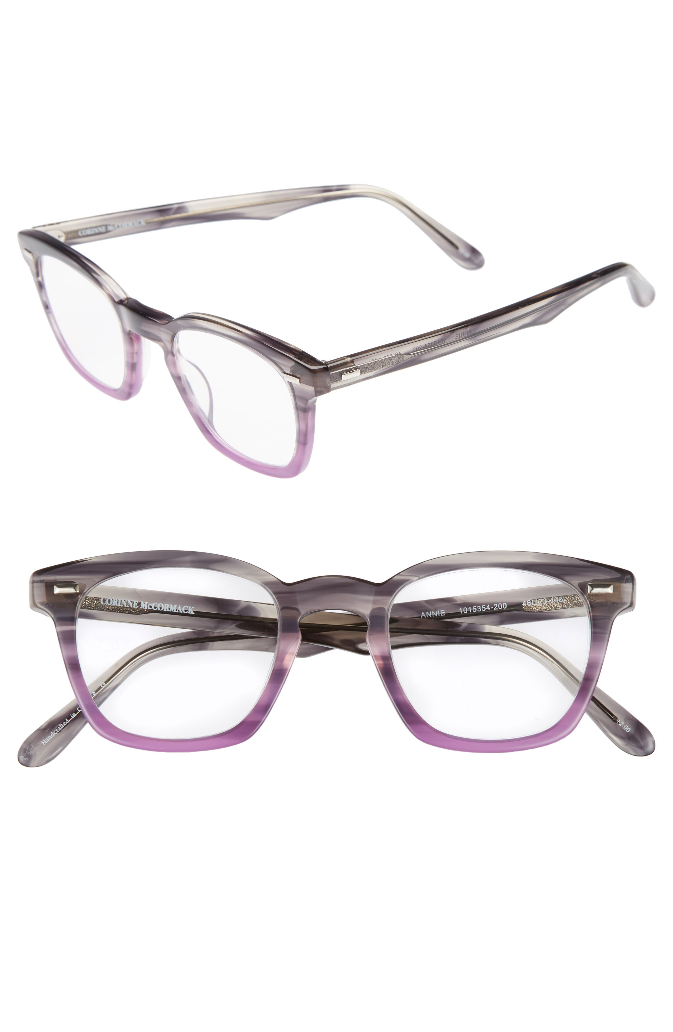 Annie 46mm Reading Glasses,                             Main thumbnail 1, color,                             020