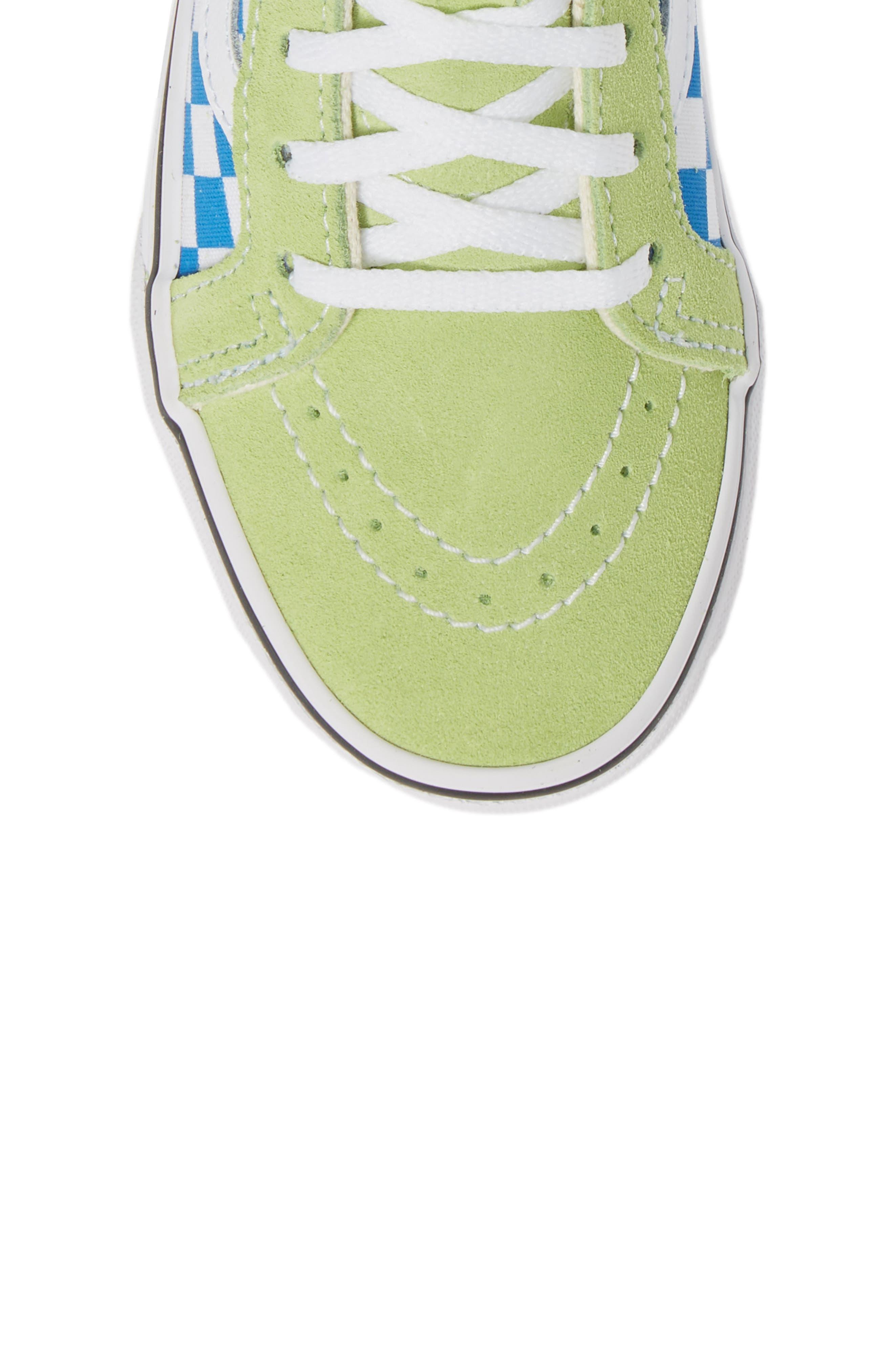 'Sk8-Hi' Sneaker,                             Alternate thumbnail 5, color,                             SHARP GREEN/ PINK LEMONADE