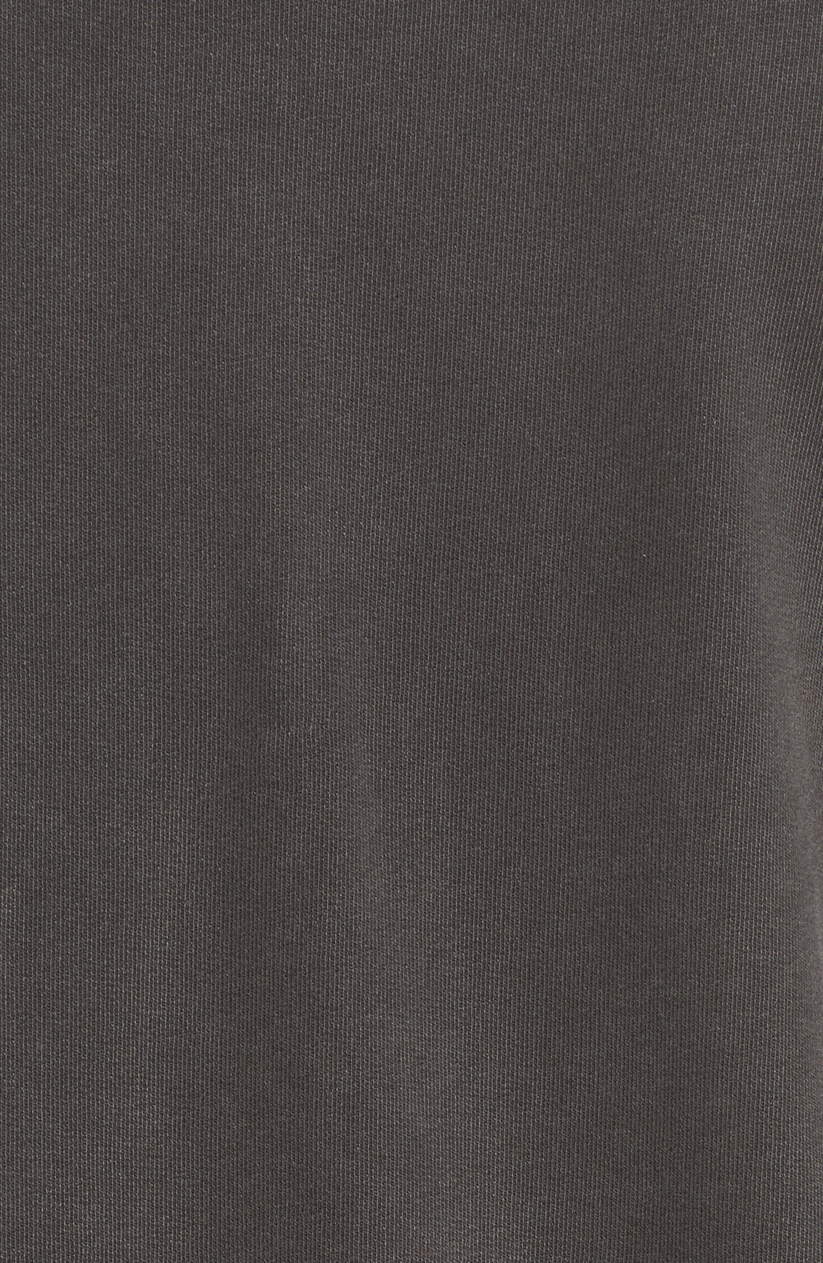 Brendan Raw Edge Crewneck Sweatshirt,                             Alternate thumbnail 5, color,                             001