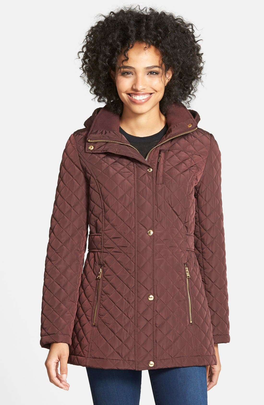 Hooded Quilted Jacket,                             Main thumbnail 7, color,