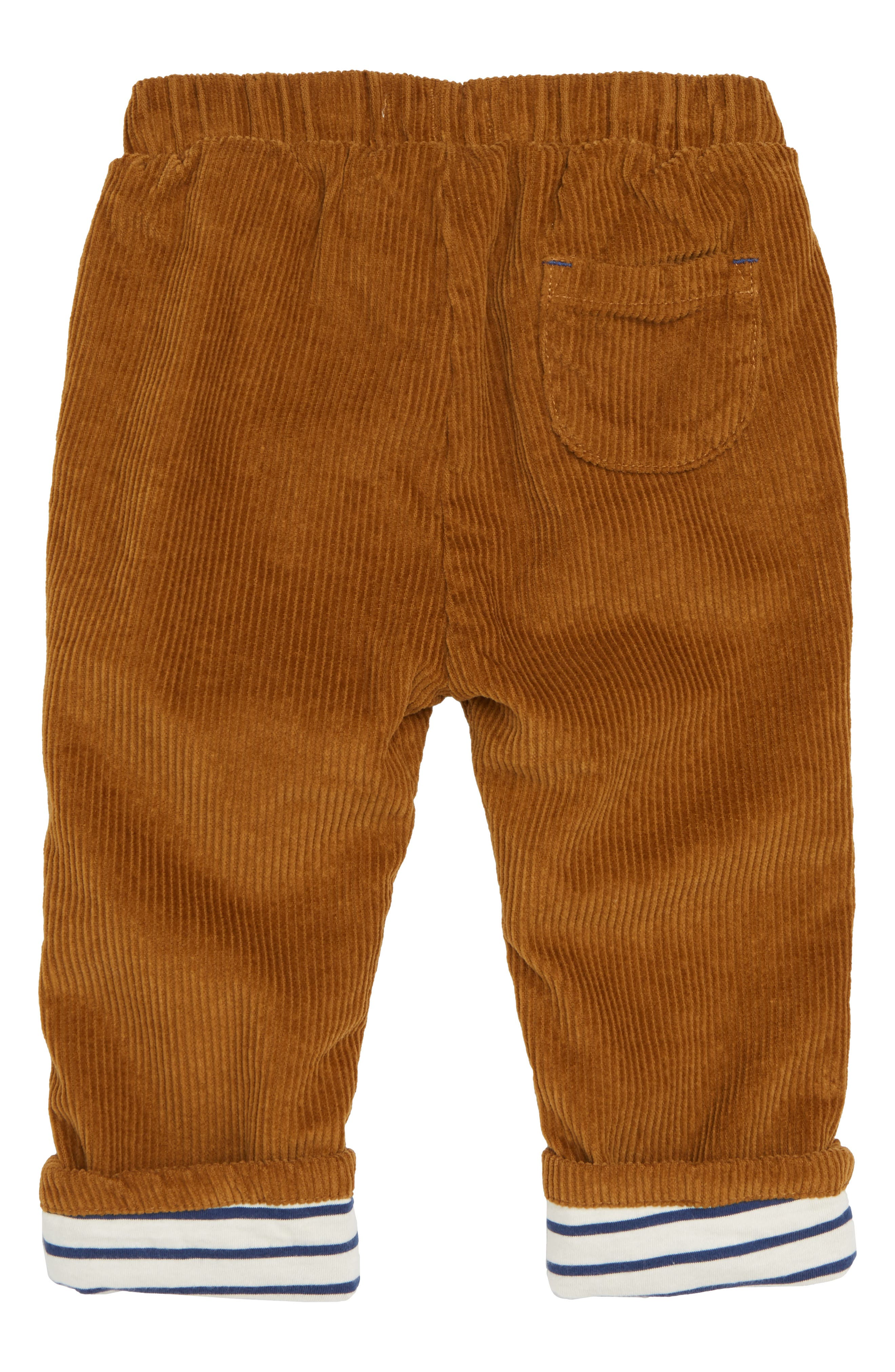 Lined Corduroy Trousers,                             Alternate thumbnail 2, color,                             TEDDY BEAR BROWN