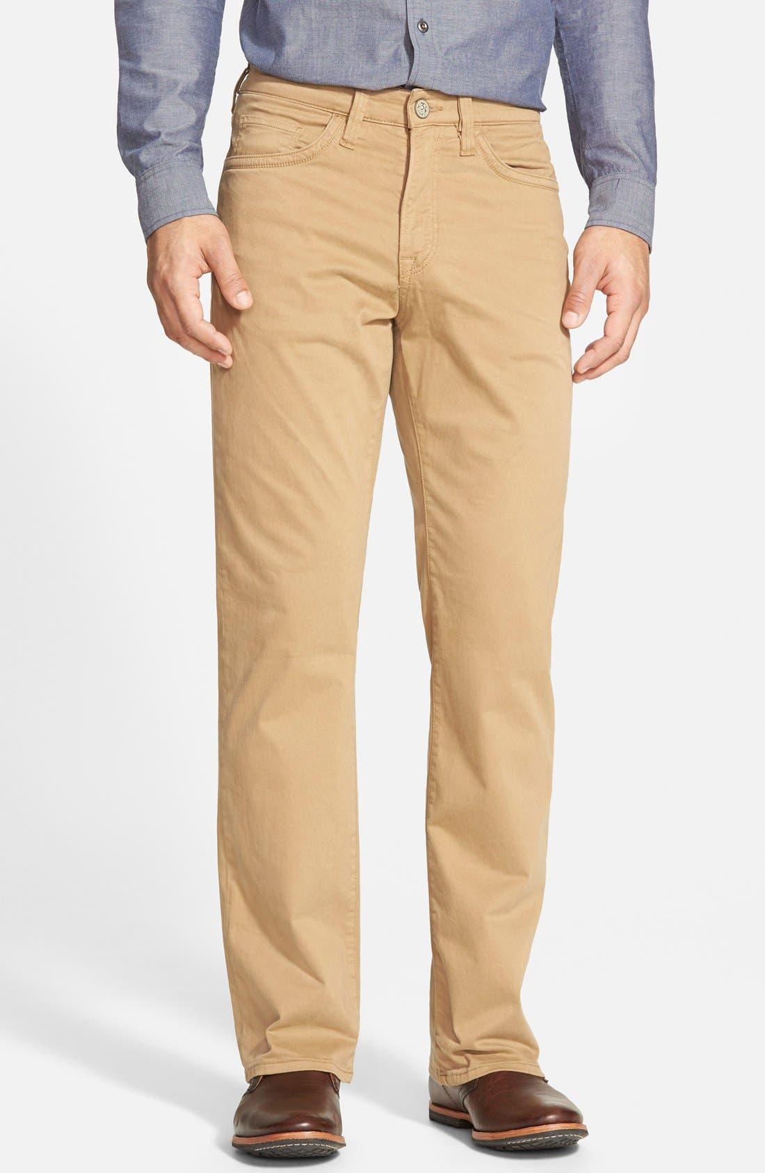 'Charisma' Classic Relaxed Fit Pants,                         Main,                         color, BEIGE/ KHAKI