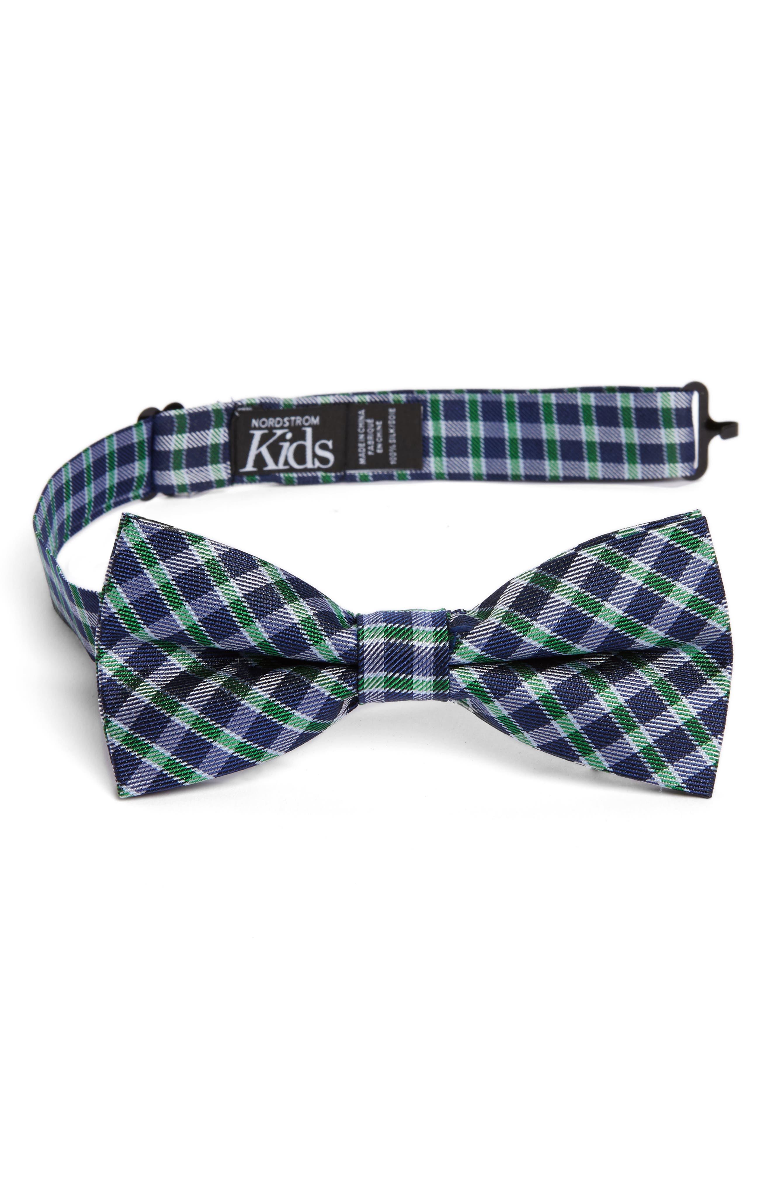 Plaid Silk Bow Tie,                             Main thumbnail 1, color,                             358