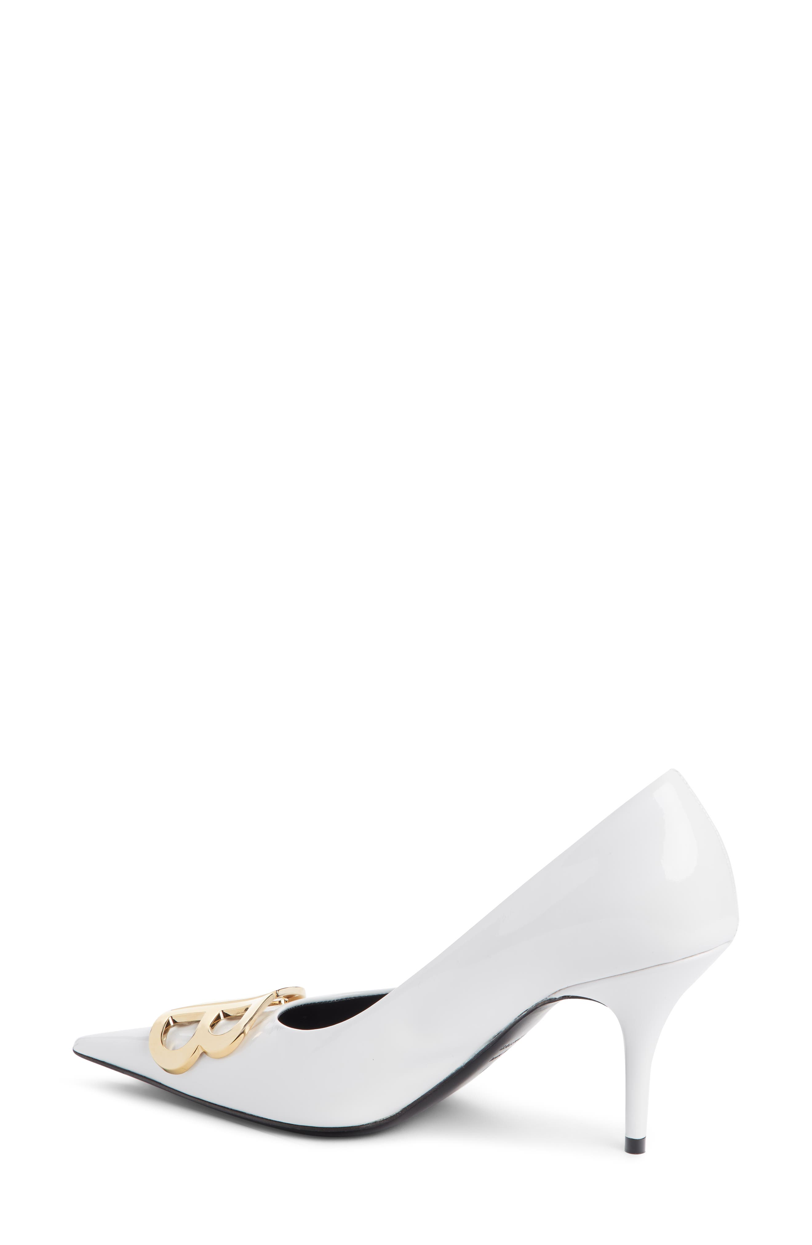 BB Pointy Toe Pump,                             Alternate thumbnail 2, color,                             WHITE PATENT