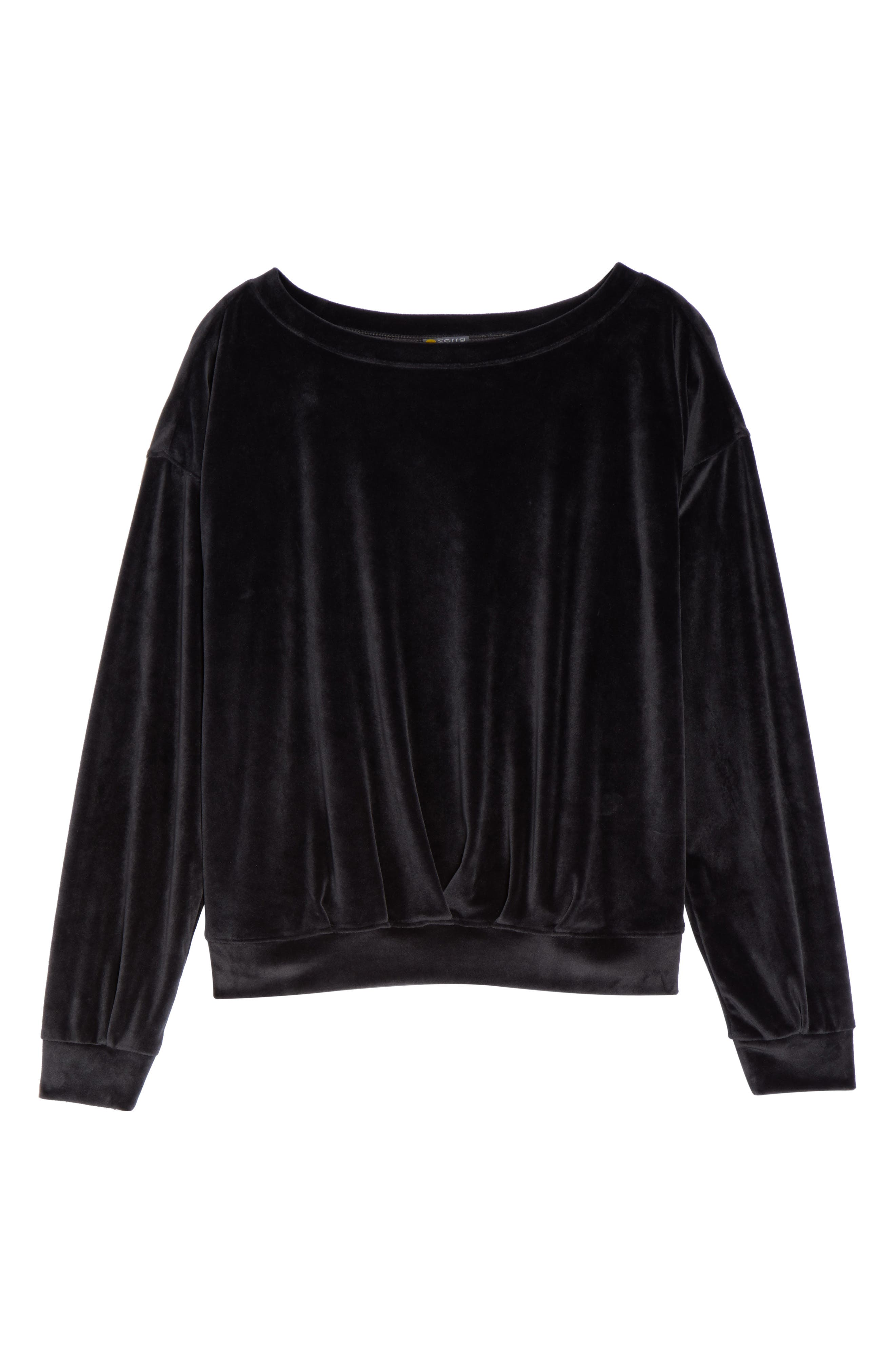 Dani Velour Pullover,                             Alternate thumbnail 7, color,                             001