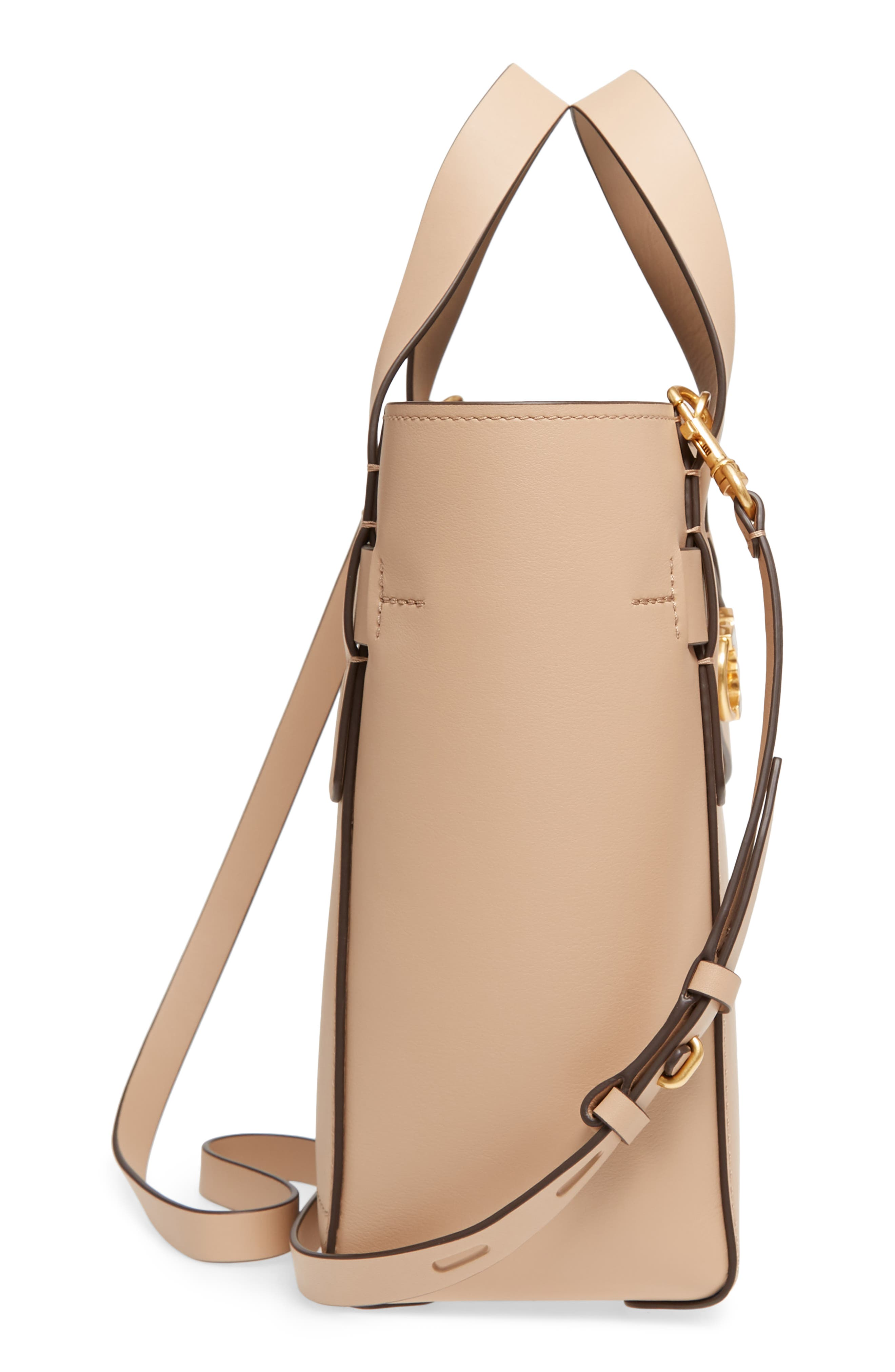 Small Gemini Link Leather Tote,                             Alternate thumbnail 9, color,