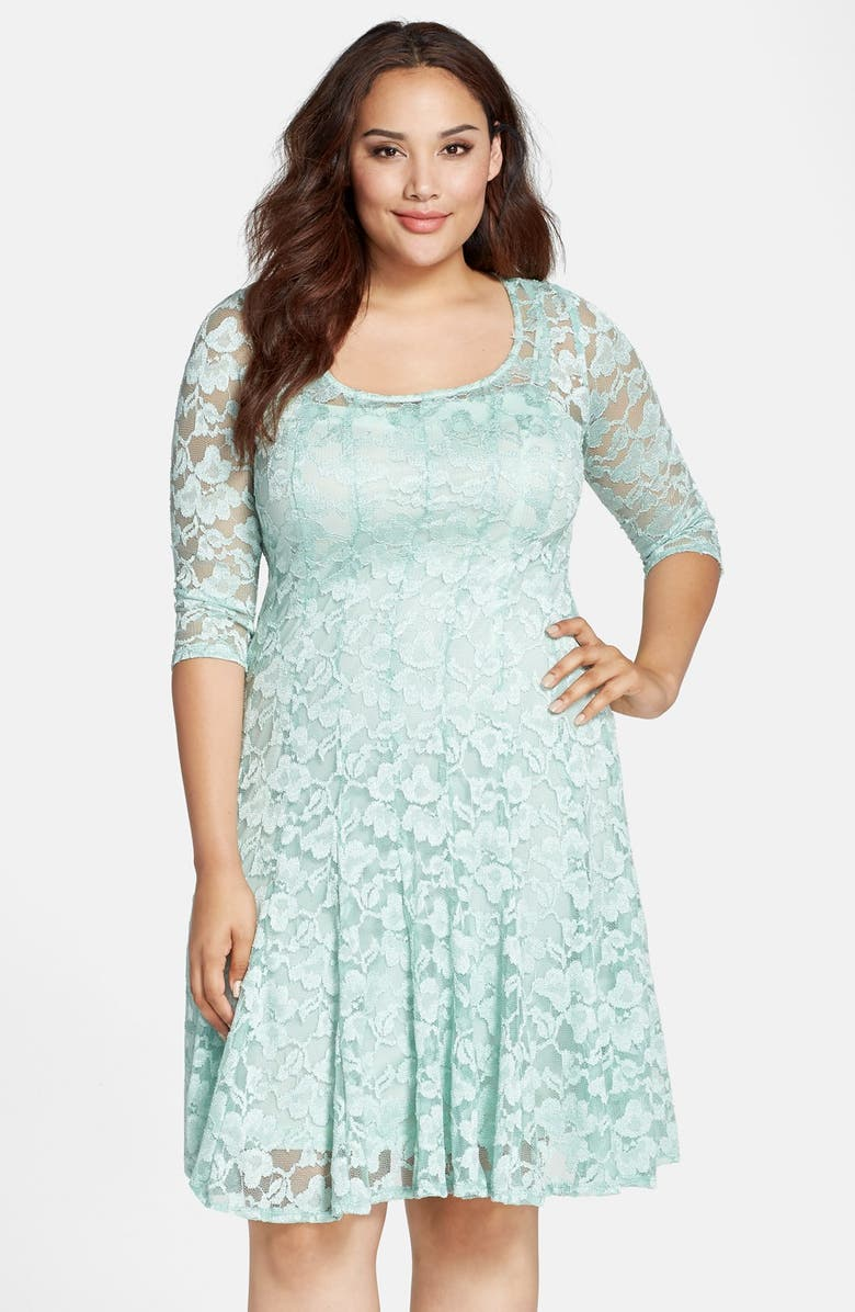 d9fe0620 Chetta B Lace Fit & Flare Dress (Plus Size)   Nordstrom