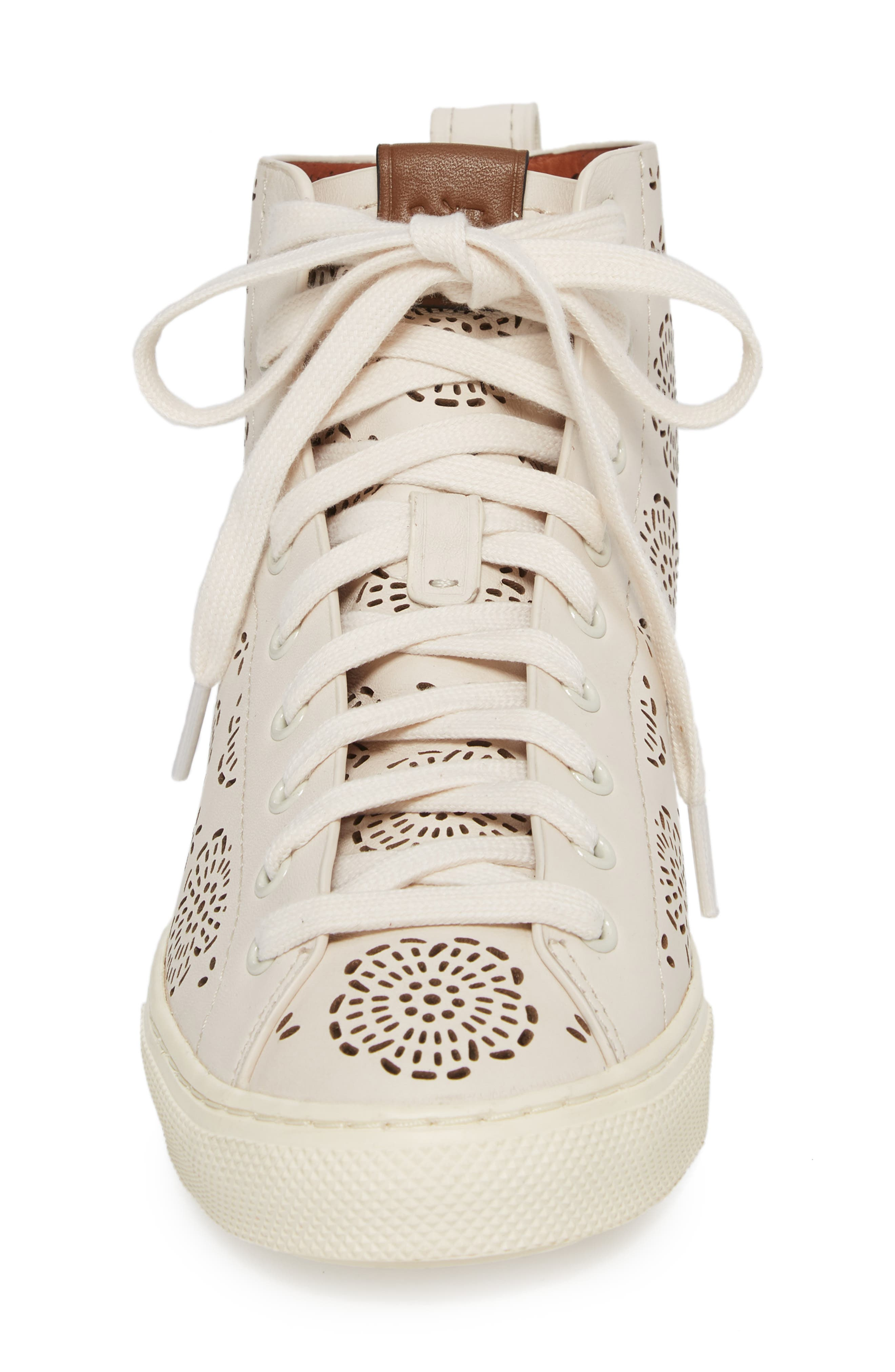 Tea Rose Cutout High Top Sneaker,                             Alternate thumbnail 4, color,                             115