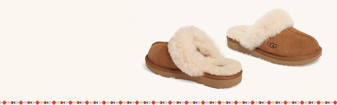 Girls' slippers.
