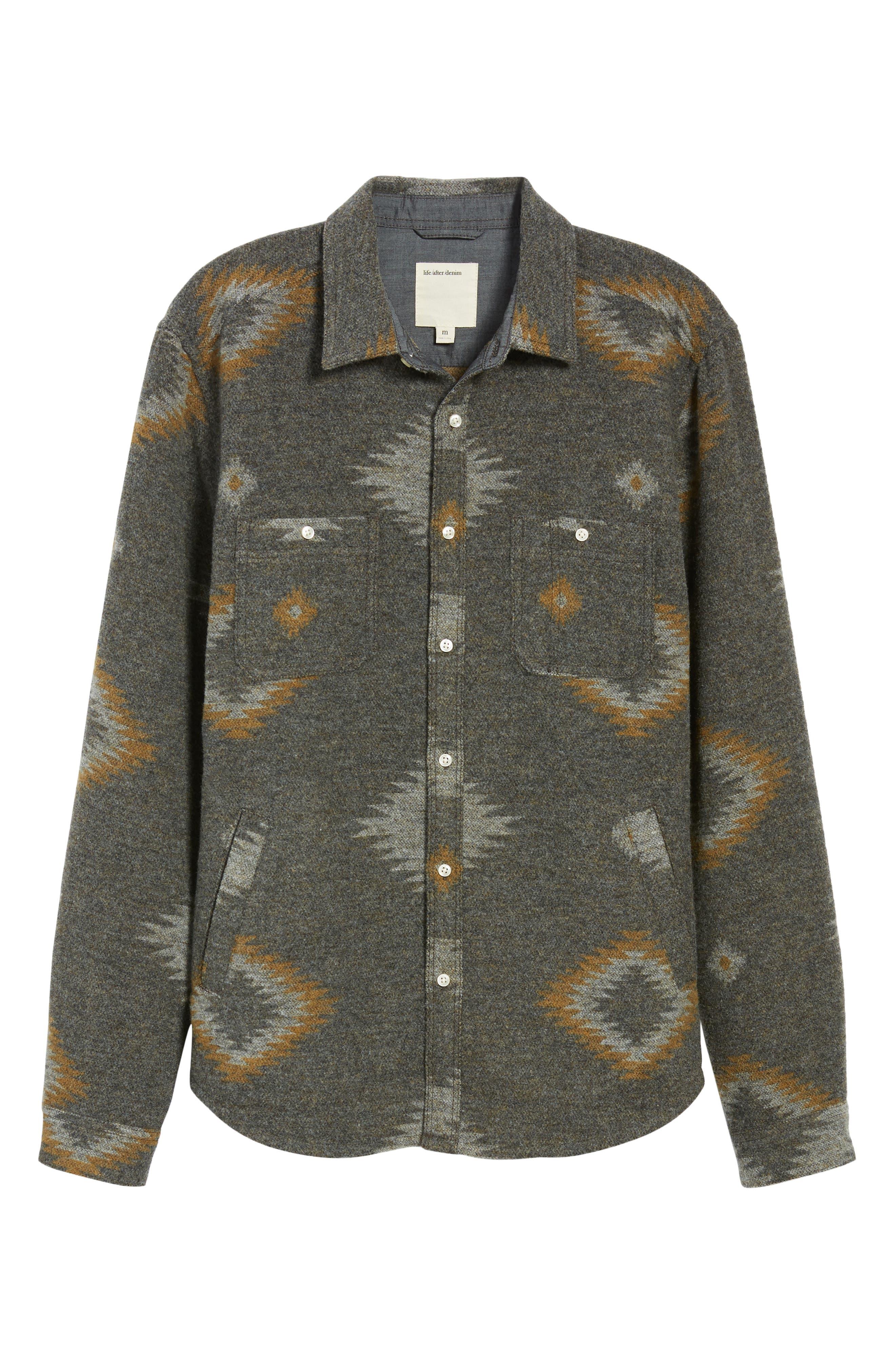 Warrior Regular Fit Wool Blend Shirt Jacket,                             Alternate thumbnail 5, color,                             HEATHER CHARCOAL