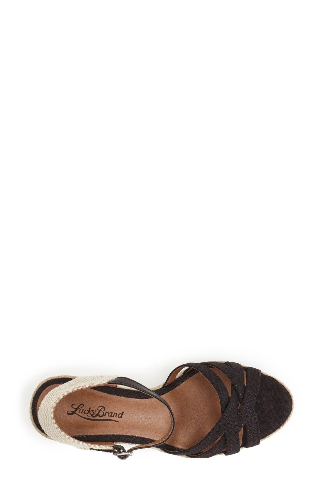 'Kalessie' Espadrille Wedge Sandal,                             Alternate thumbnail 2, color,                             001