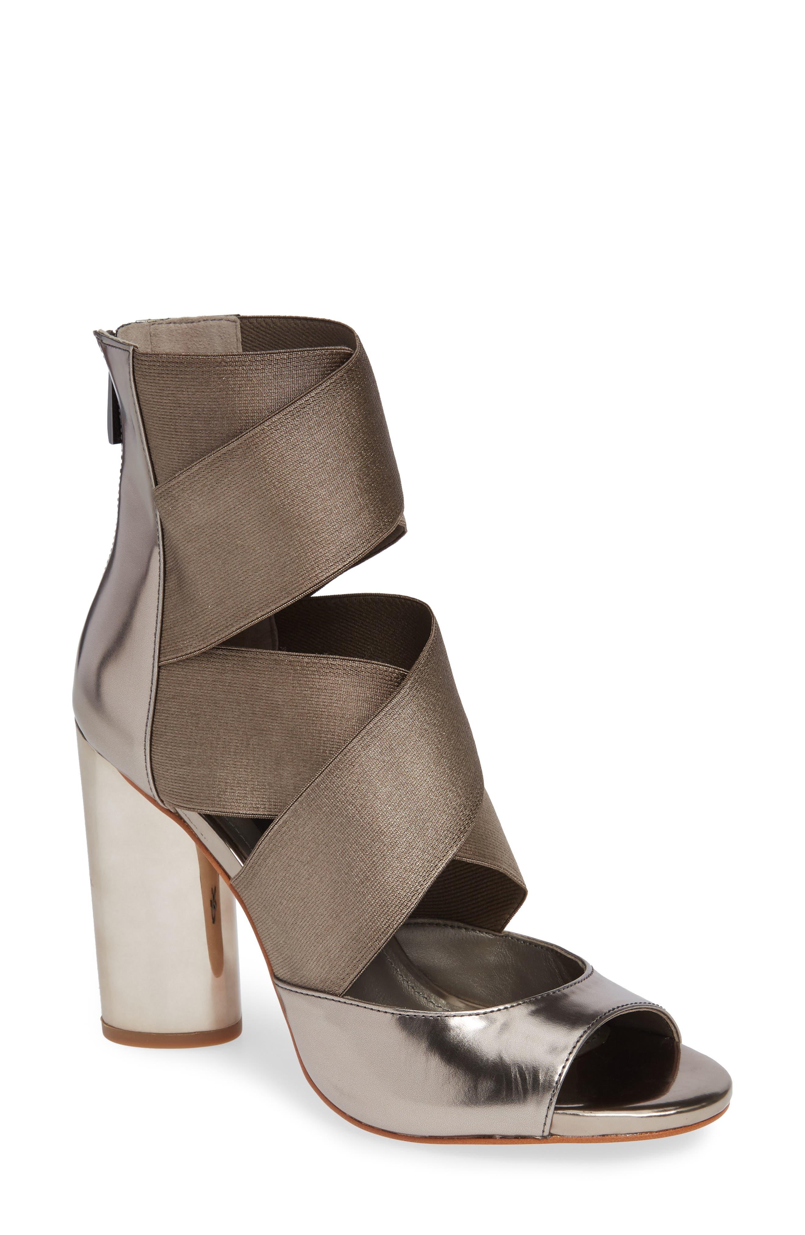 Donna Karan Briana Strappy High Sandal,                             Main thumbnail 1, color,                             DARK PEWTER