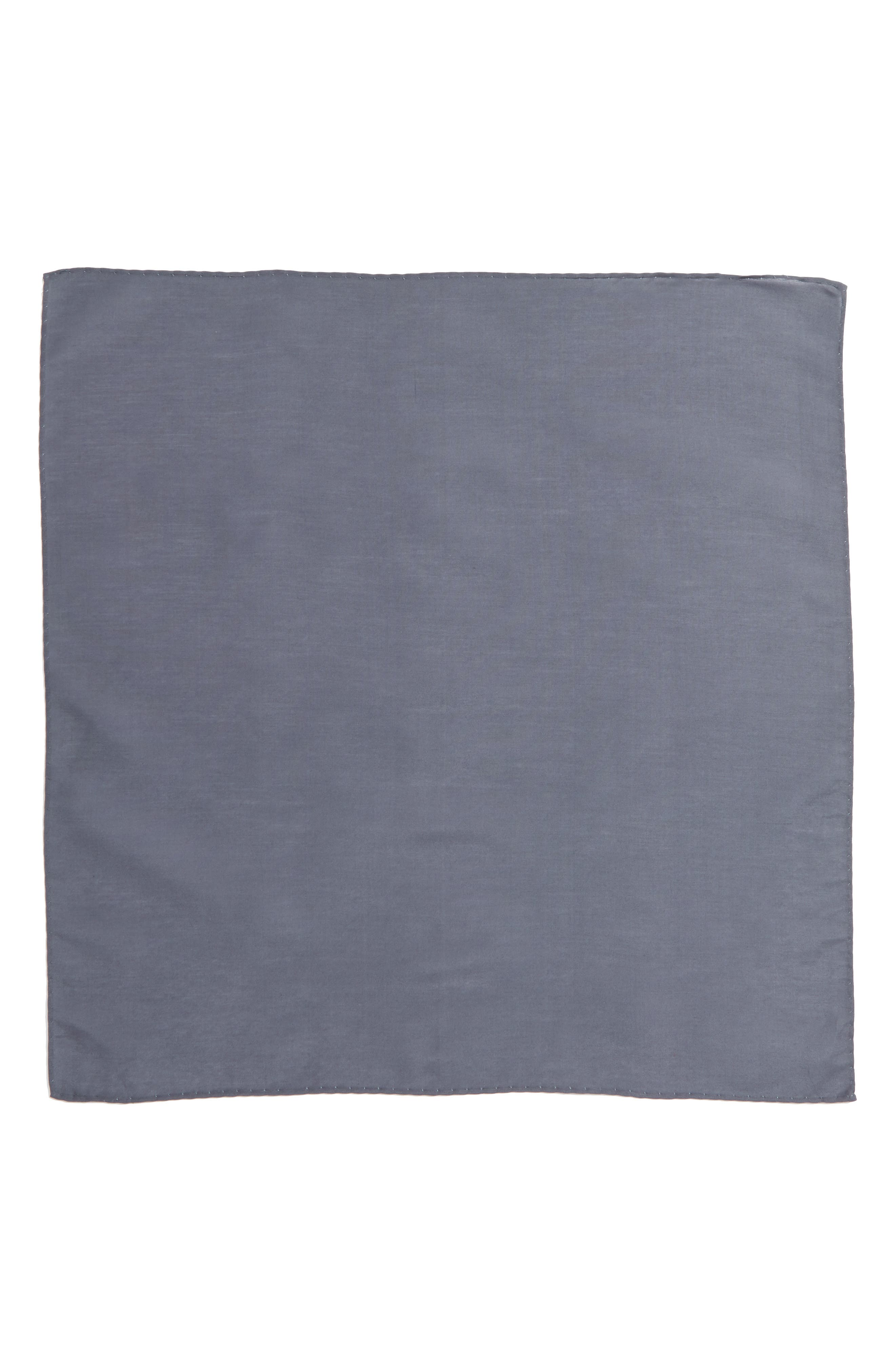 Solid Cotton & Silk Pocket Square,                             Alternate thumbnail 10, color,
