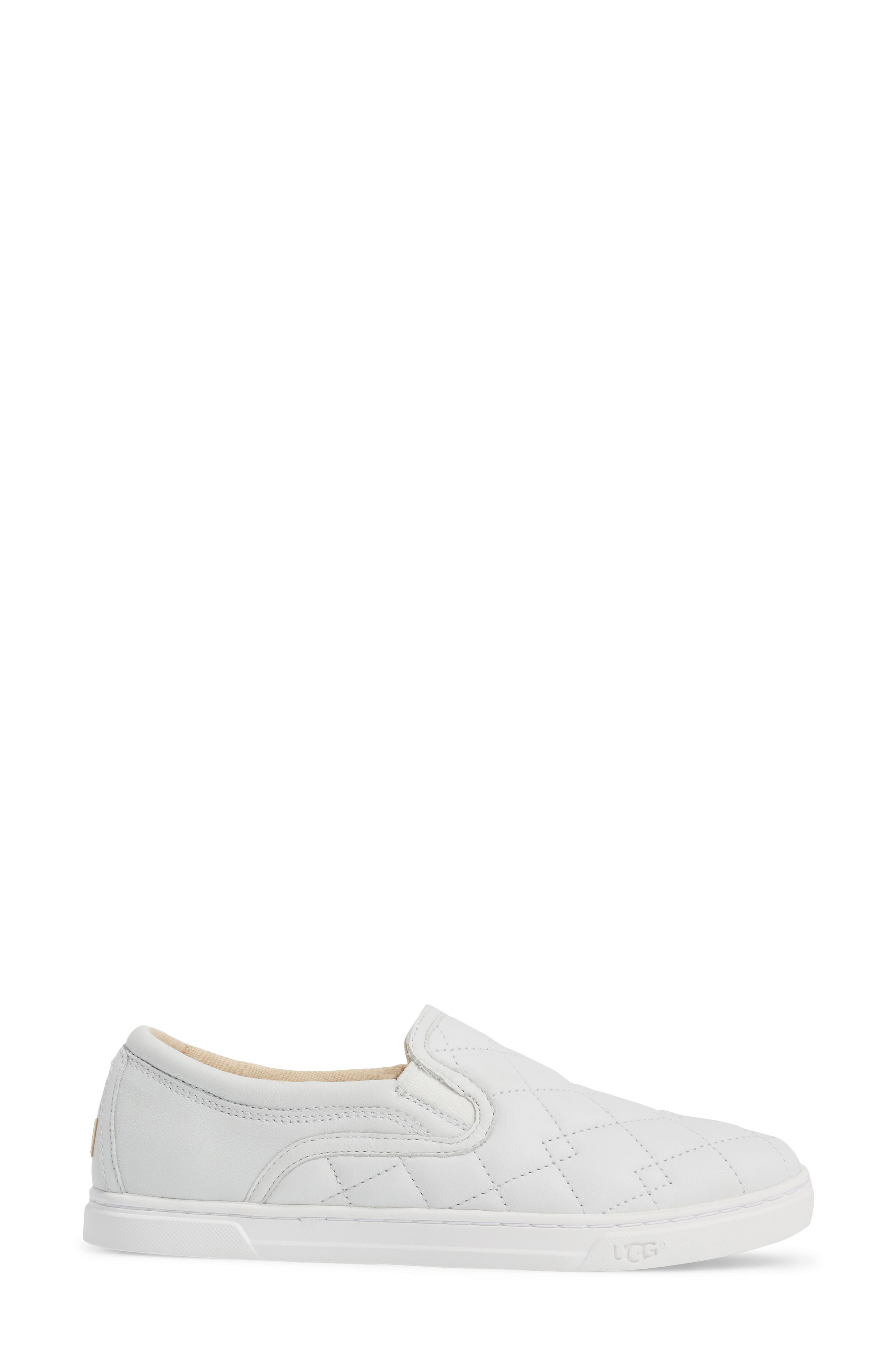 Fierce Deco Quilted Slip-On Sneaker,                             Alternate thumbnail 3, color,                             100