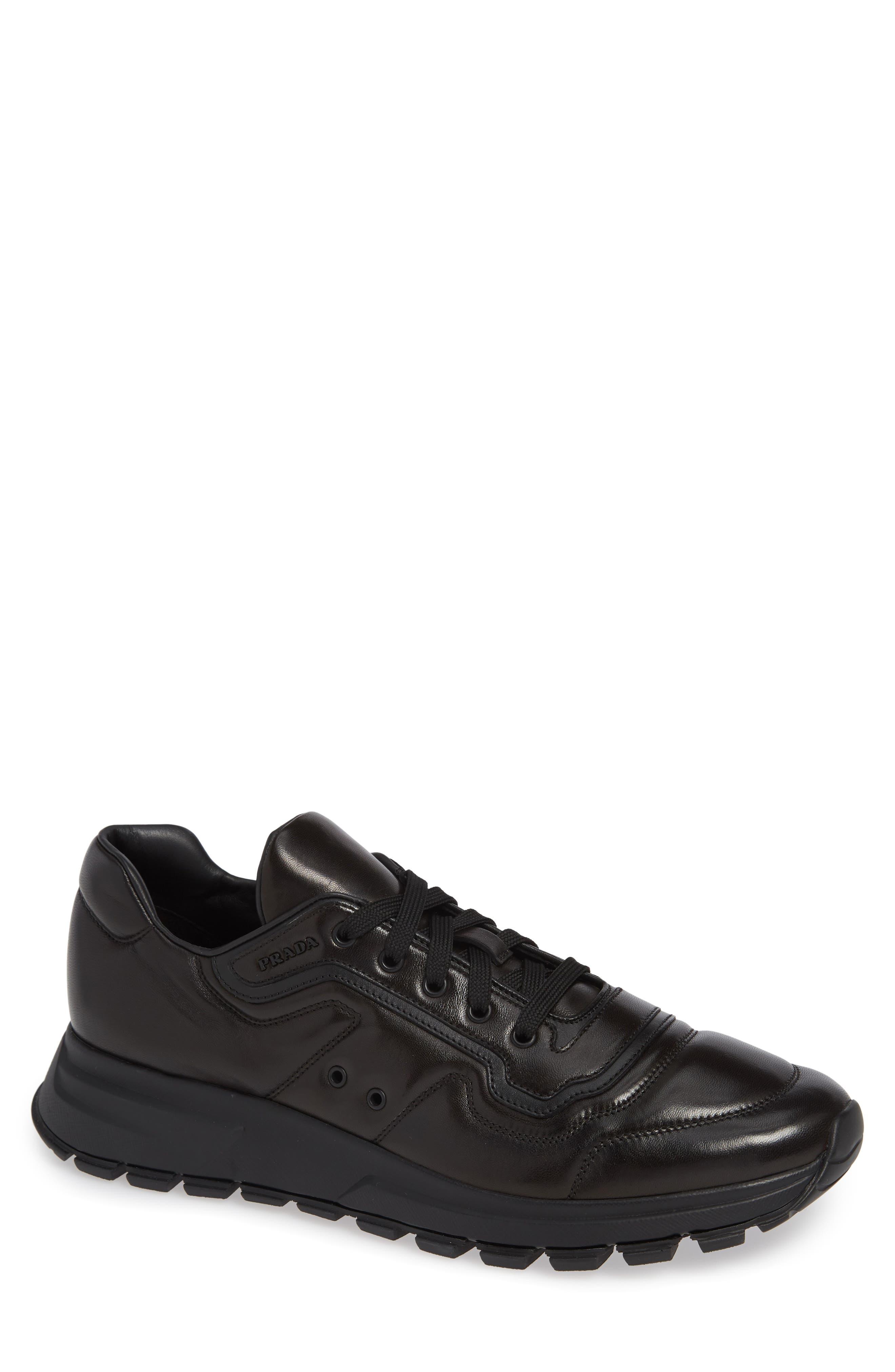 PRADA Trainer Sneaker, Main, color, NERO