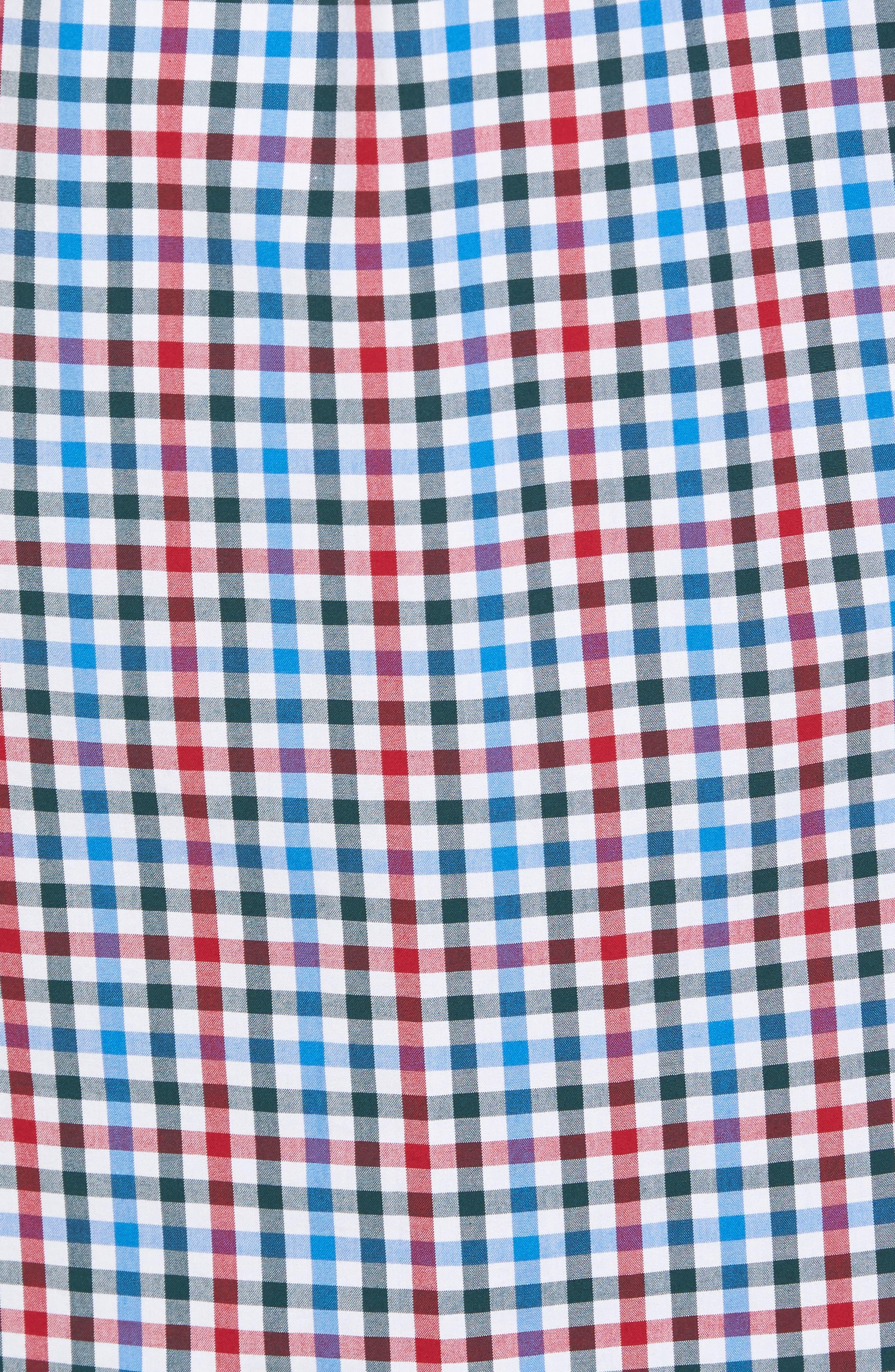 Higgins Beach Classic Fit Gingham Sport Shirt,                             Alternate thumbnail 5, color,                             620