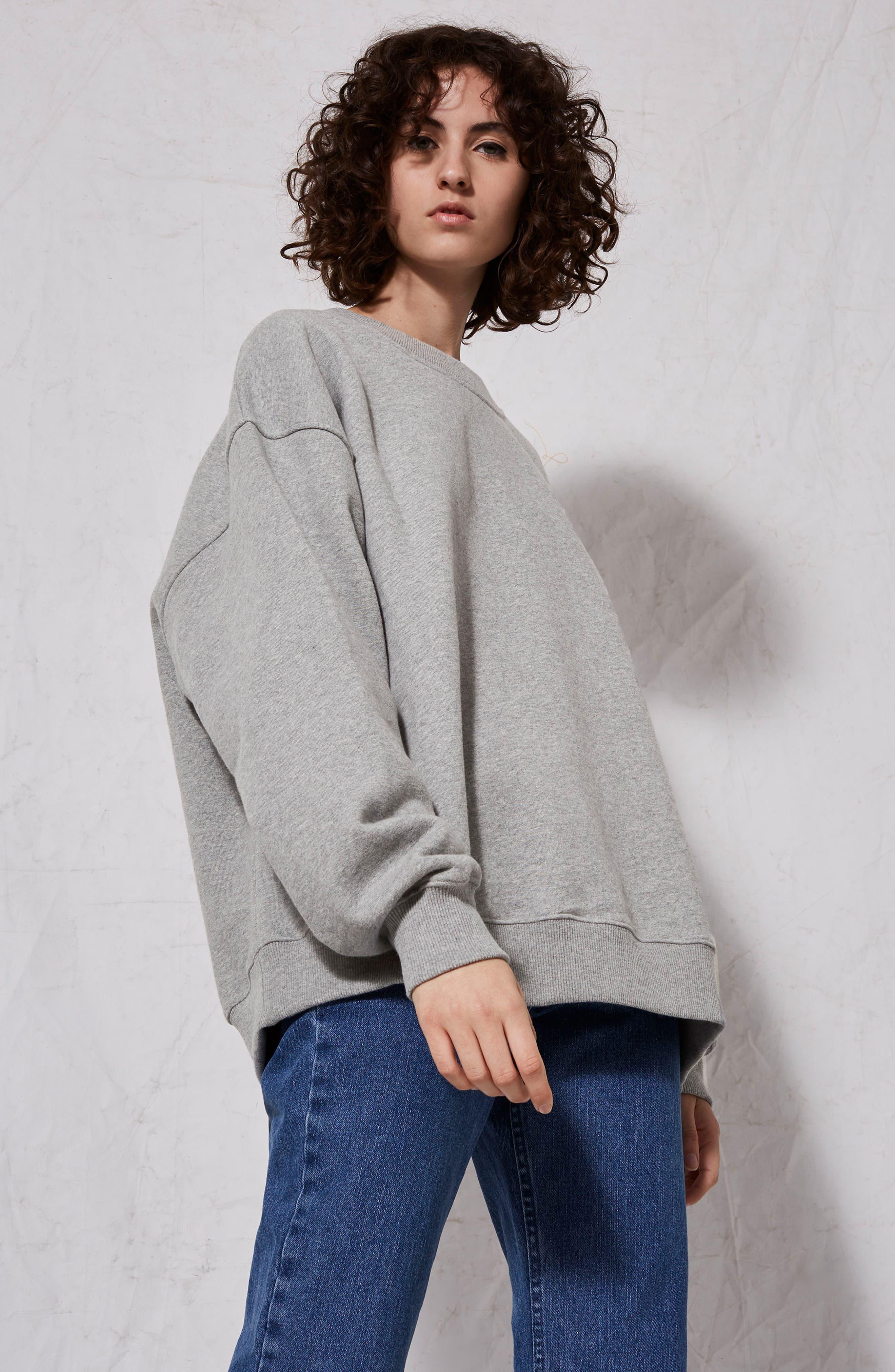 Oversize Sweatshirt,                             Alternate thumbnail 7, color,                             020