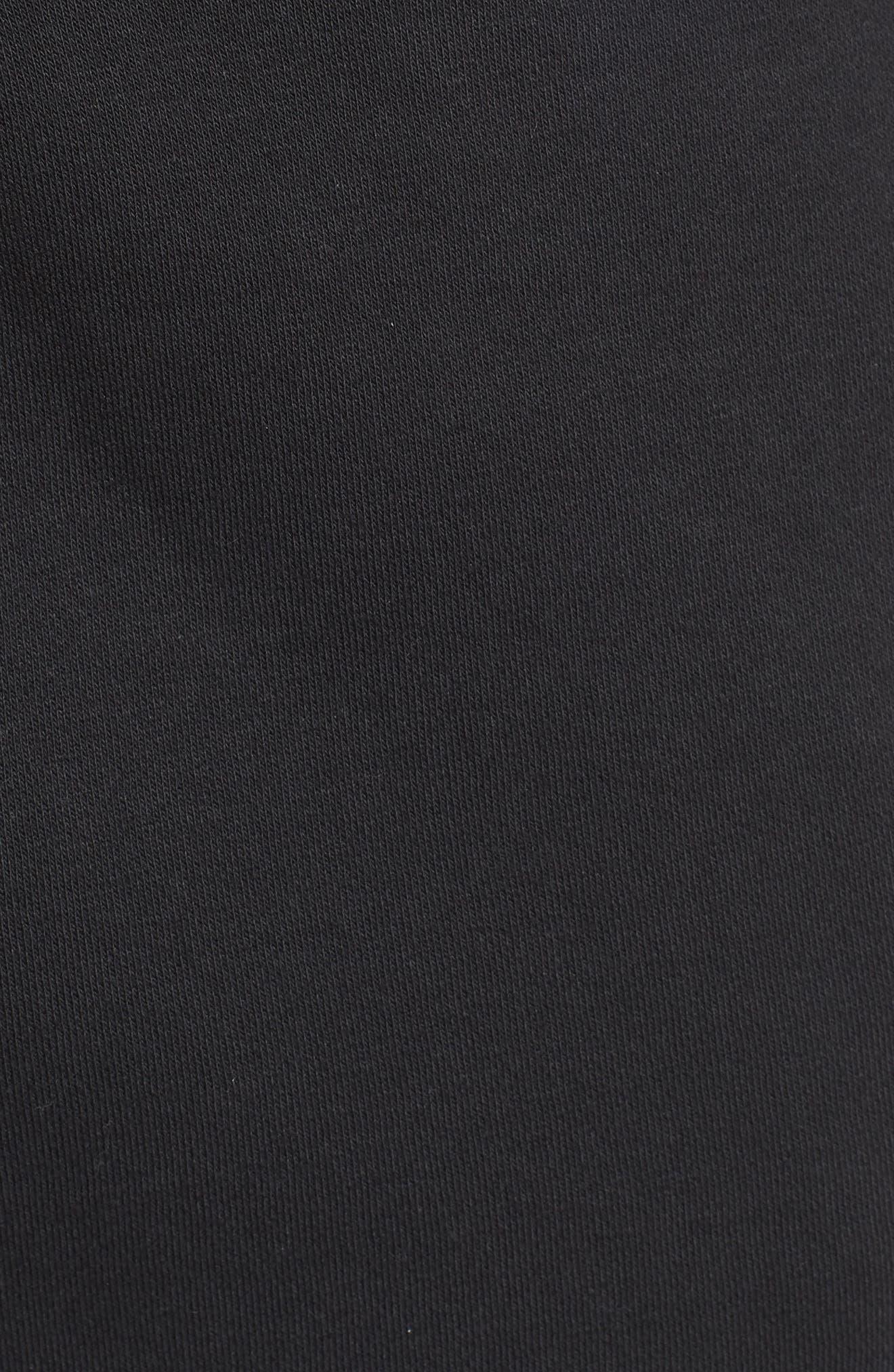 REEBOK,                             Vector Logo Sweatpants,                             Alternate thumbnail 5, color,                             BLACK