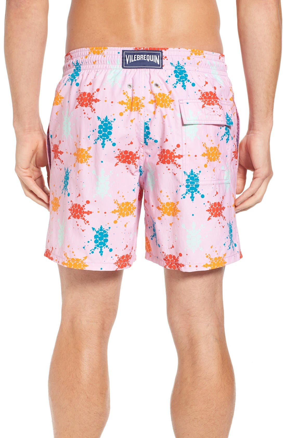 Japan Turtles Print Swim Trunks,                             Alternate thumbnail 2, color,                             659