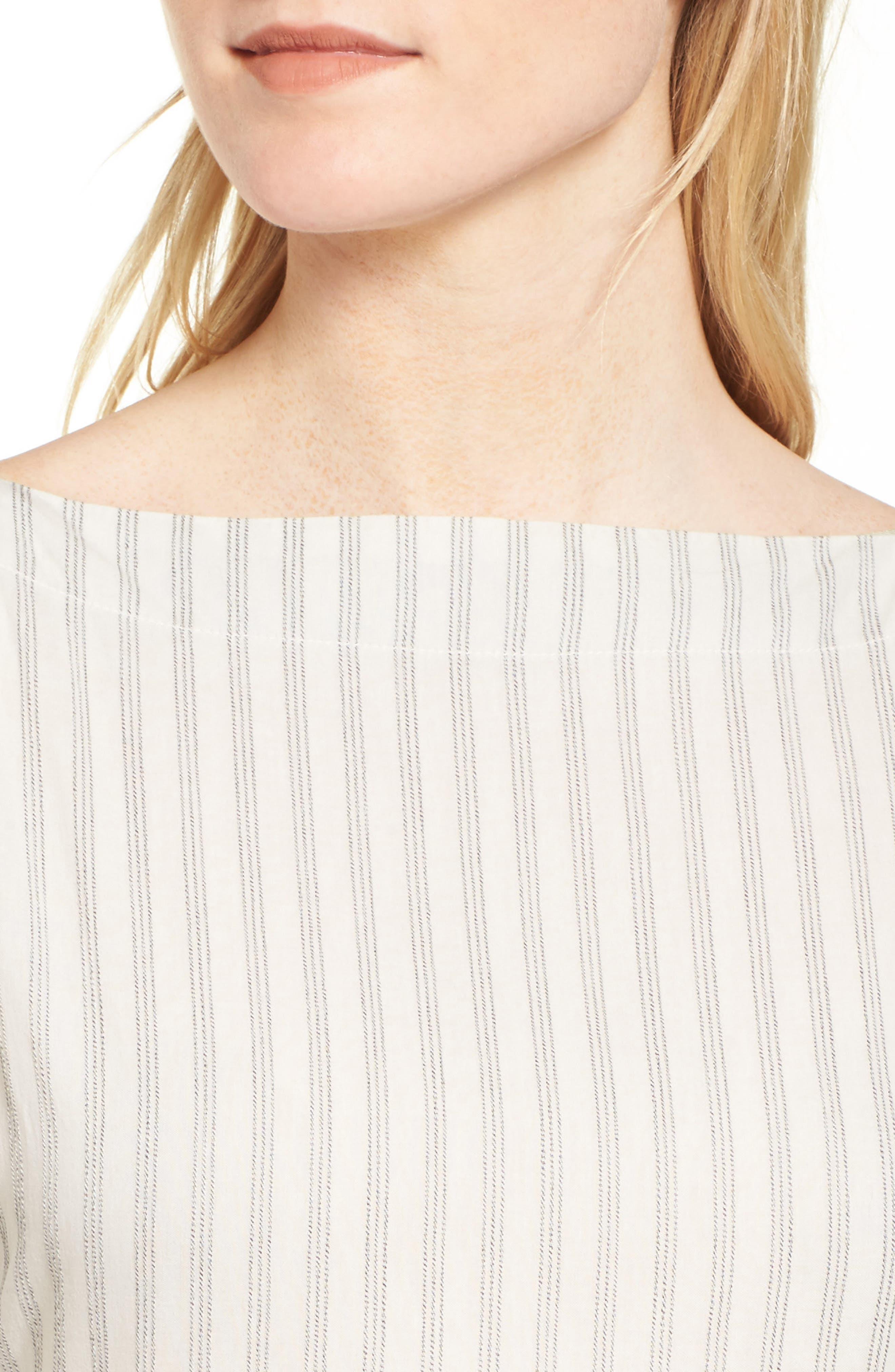 Stripe Midi Dress,                             Alternate thumbnail 4, color,                             158