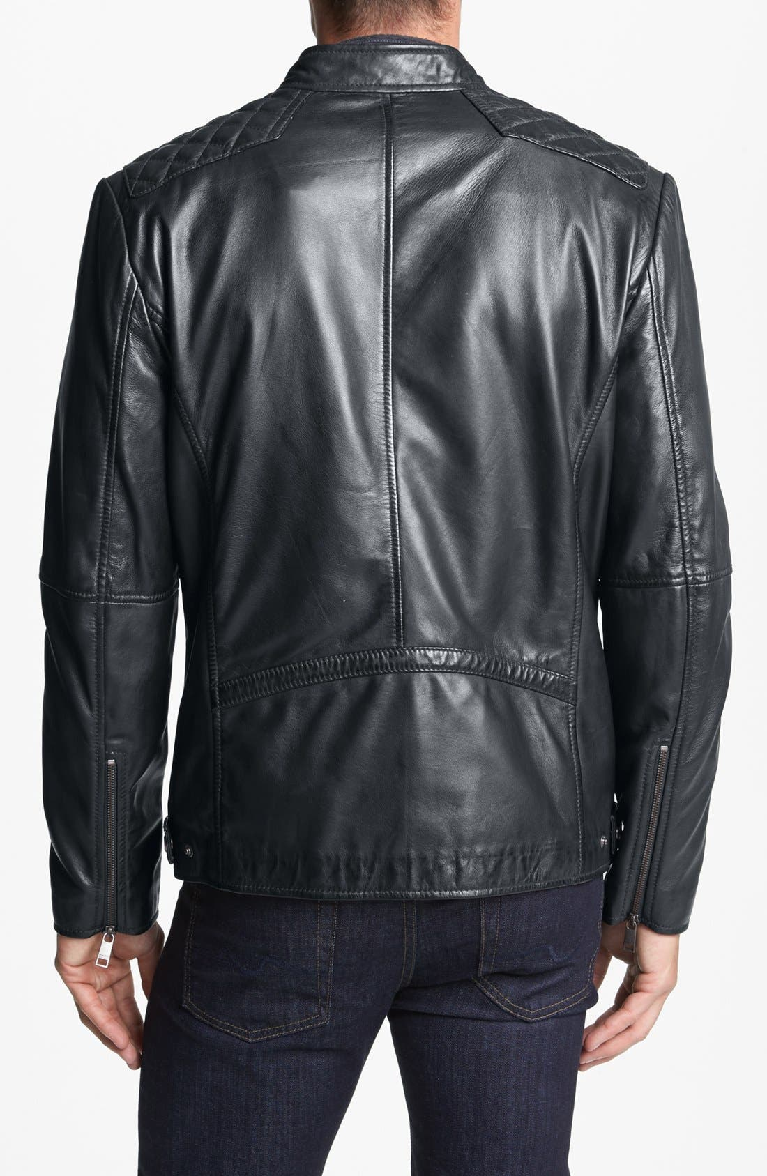 MARC NEW YORK,                             by Andrew Marc 'Quincy' Quilted Leather Moto Jacket,                             Alternate thumbnail 2, color,                             043