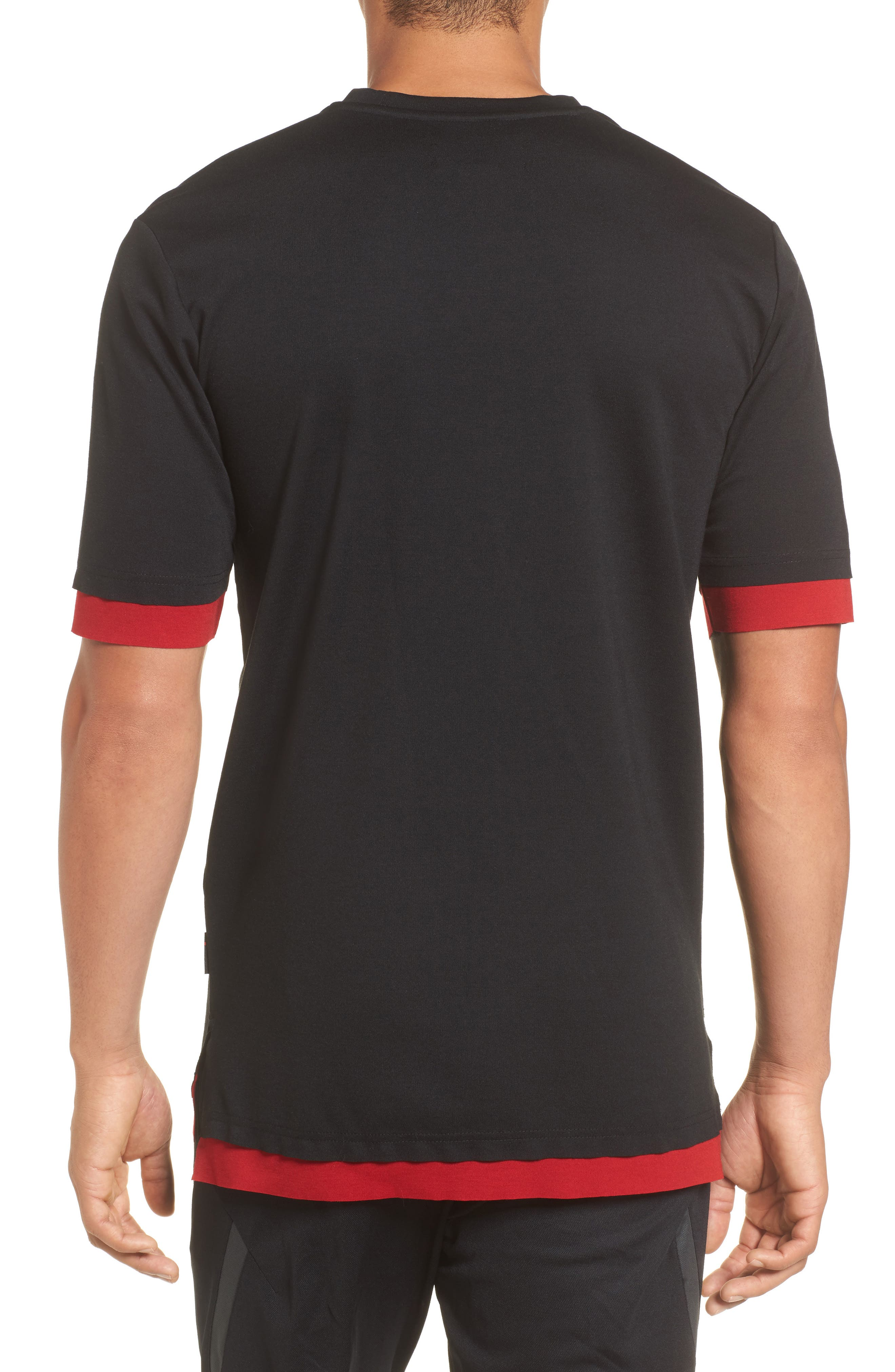 Sportswear Tech T-Shirt,                             Alternate thumbnail 2, color,                             BLACK/ GYM RED/ ANTHRACITE