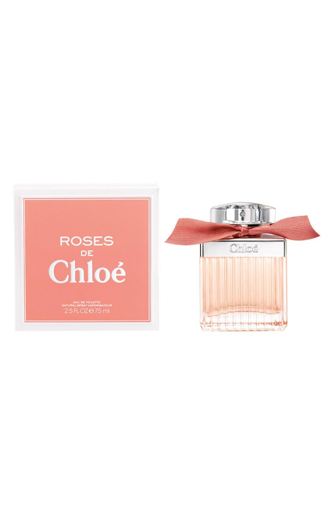 'Roses de Chloé' Eau de Toilette Spray,                             Alternate thumbnail 4, color,                             NO COLOR