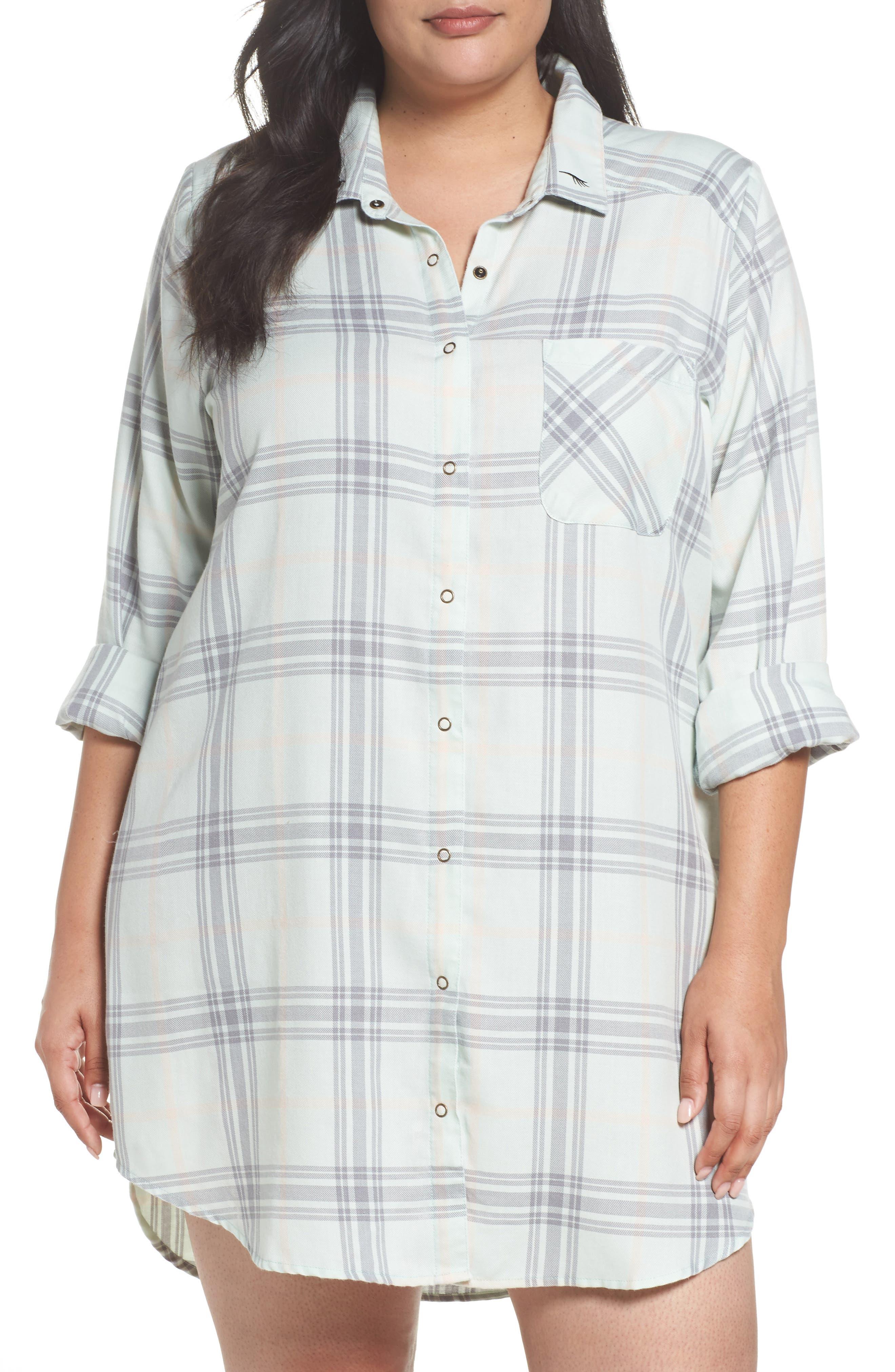 Plaid Night Shirt,                             Main thumbnail 2, color,