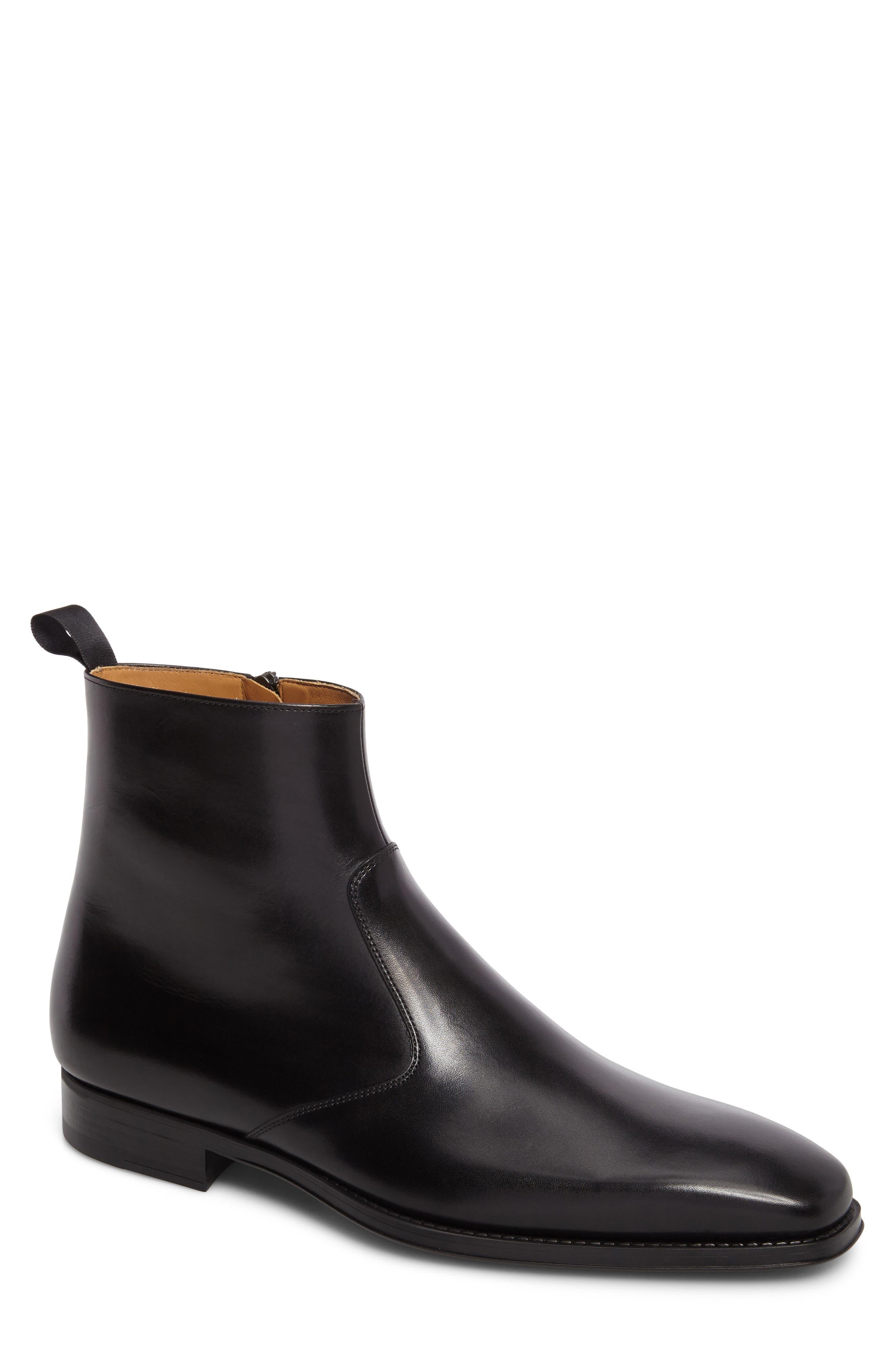 Rosdale Zip Boot,                             Main thumbnail 1, color,                             BLACK LEATHER