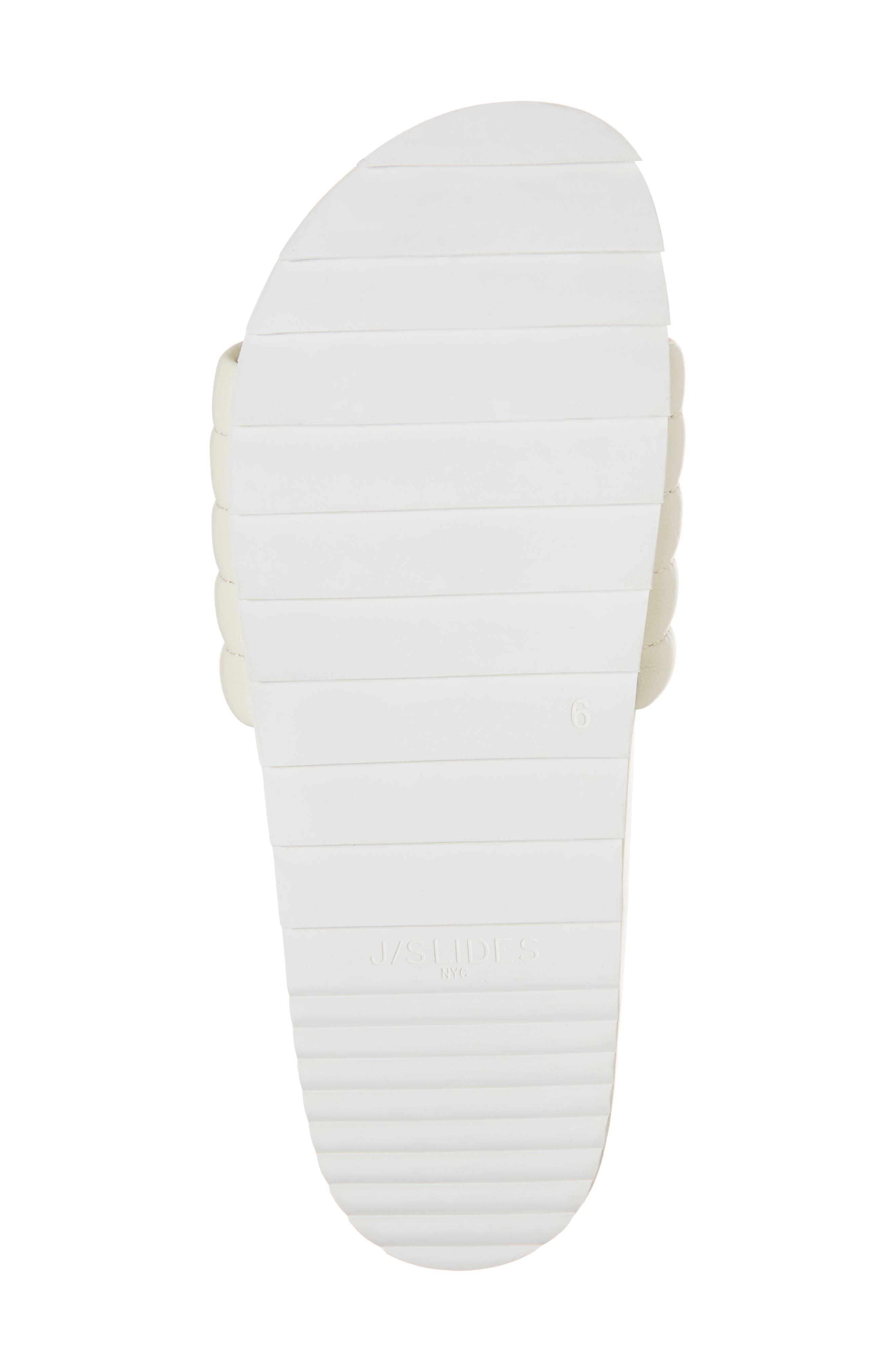 Eppie Slide Sandal,                             Alternate thumbnail 6, color,                             OFF WHITE LEATHER