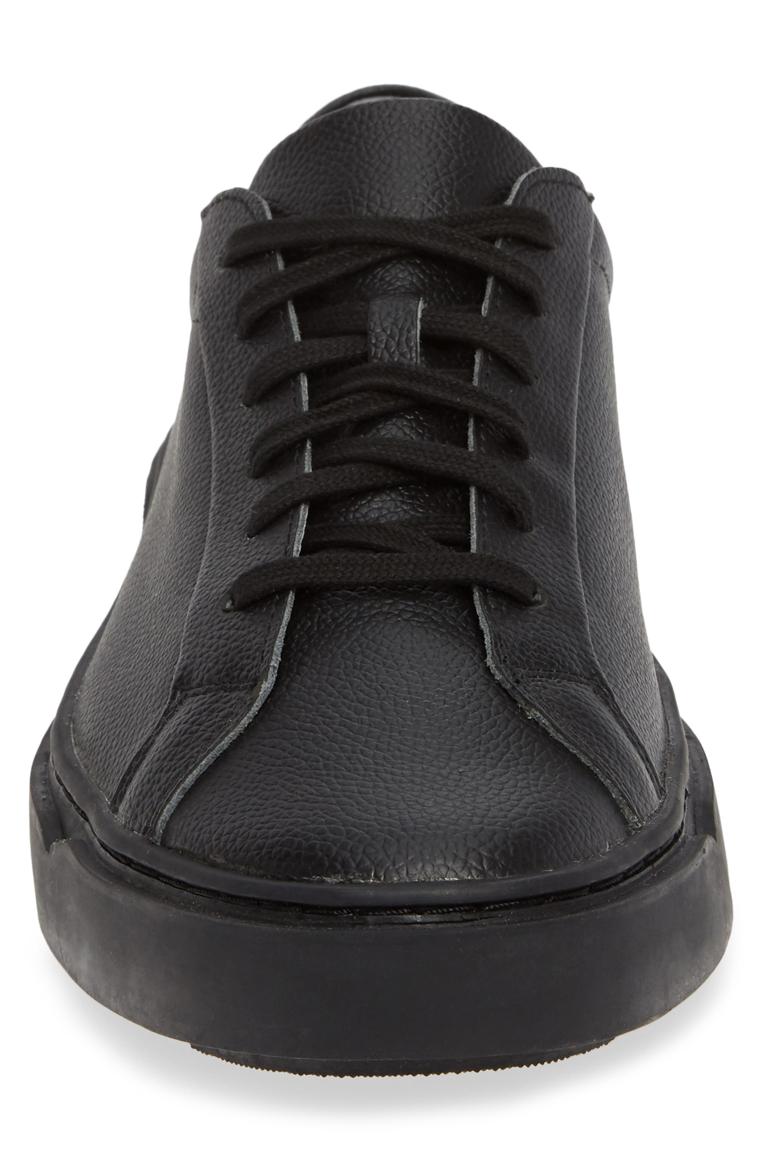 Ken Sneaker,                             Alternate thumbnail 4, color,                             TRIPLE BLACK LEATHER