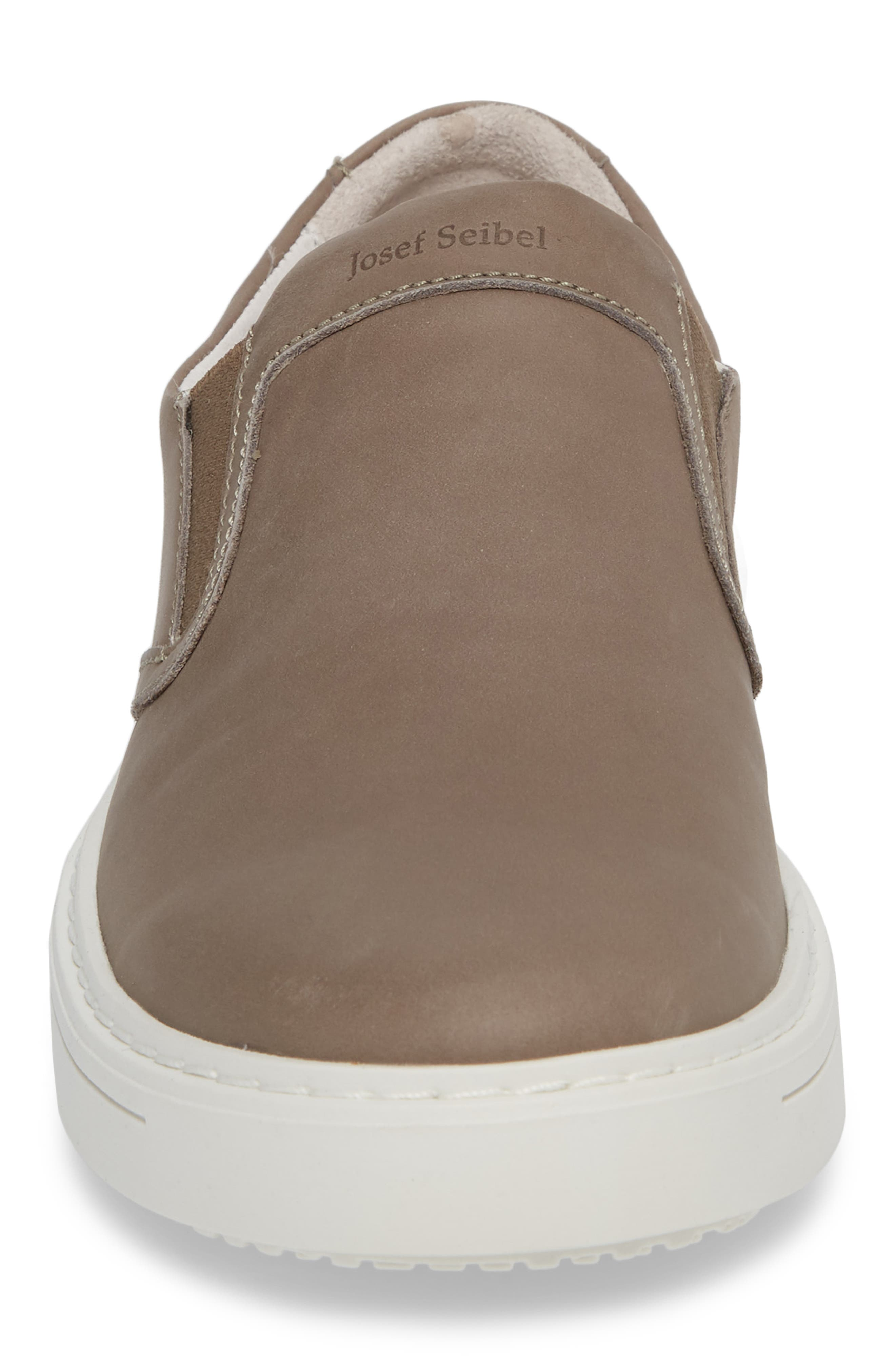 Quentin 15 Slip-On Sneaker,                             Alternate thumbnail 4, color,                             GRAY LEATHER