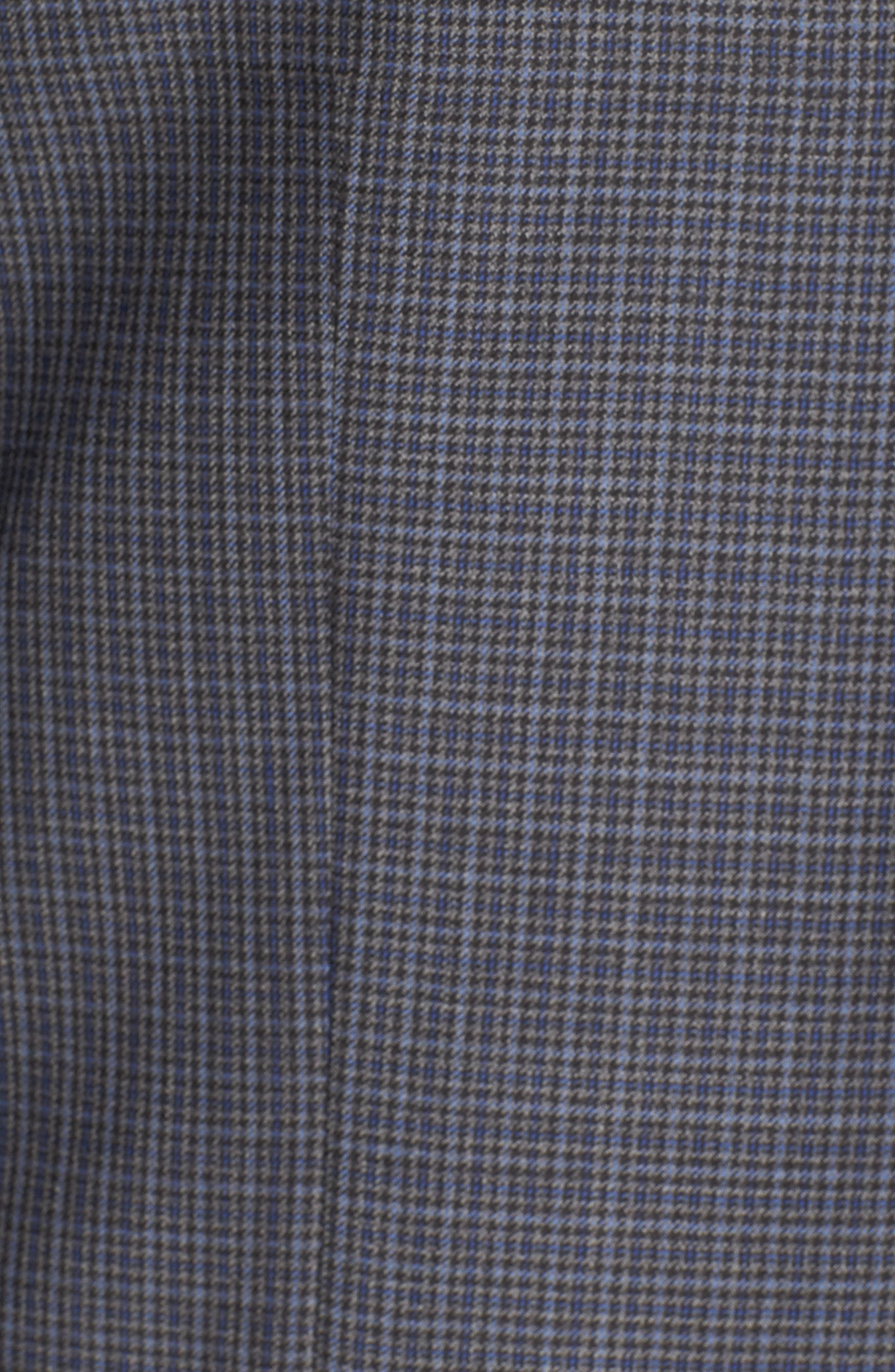 Flynn Classic Fit Check Wool Sport Coat,                             Alternate thumbnail 6, color,                             400
