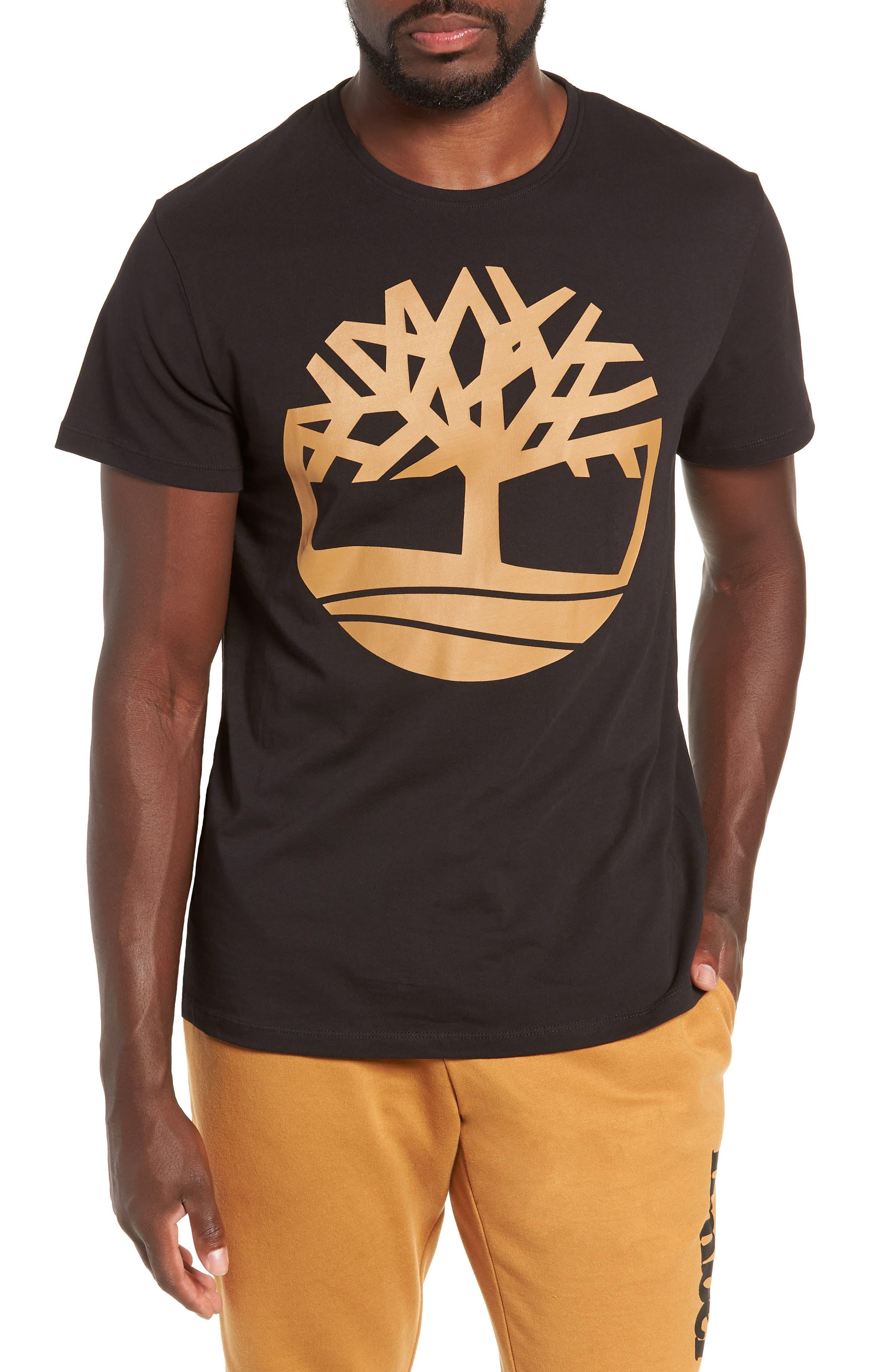 Core Logo T-Shirt,                         Main,                         color, BLACK TREE