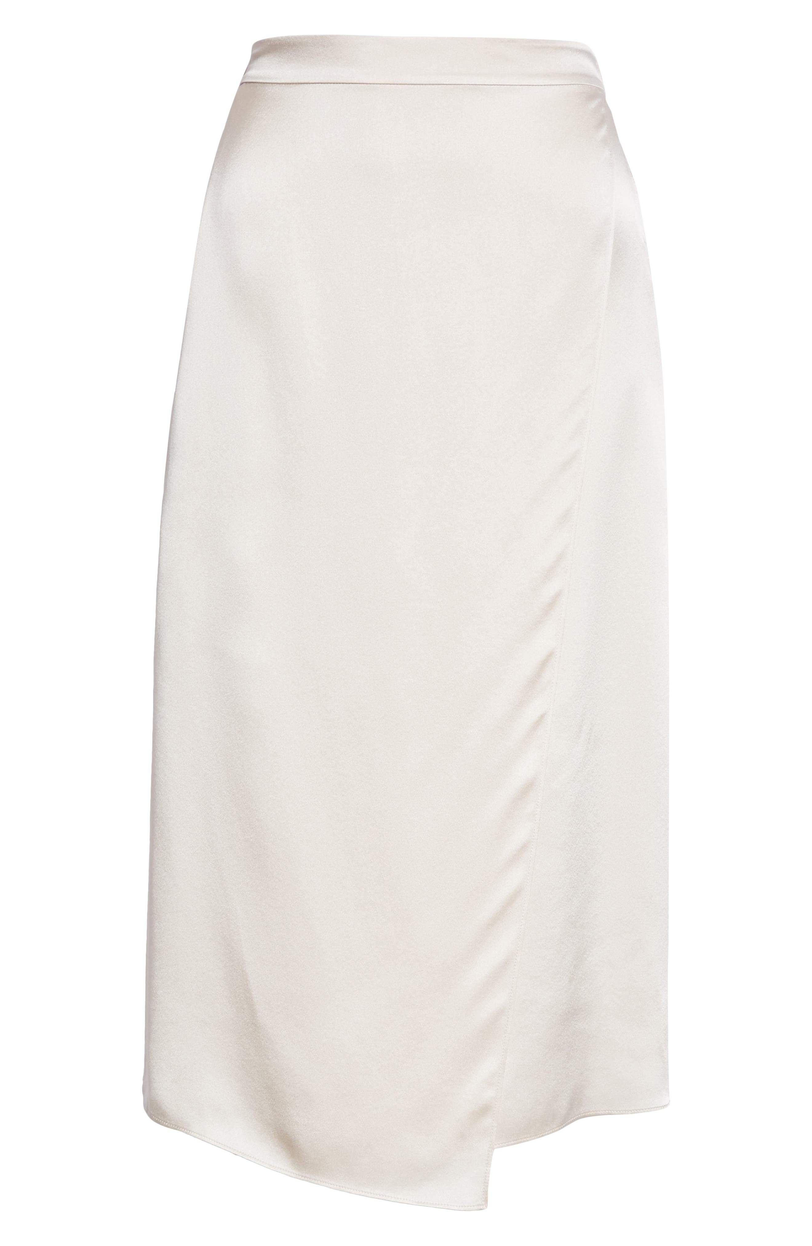 Drape Panel Silk Skirt,                             Alternate thumbnail 6, color,                             292