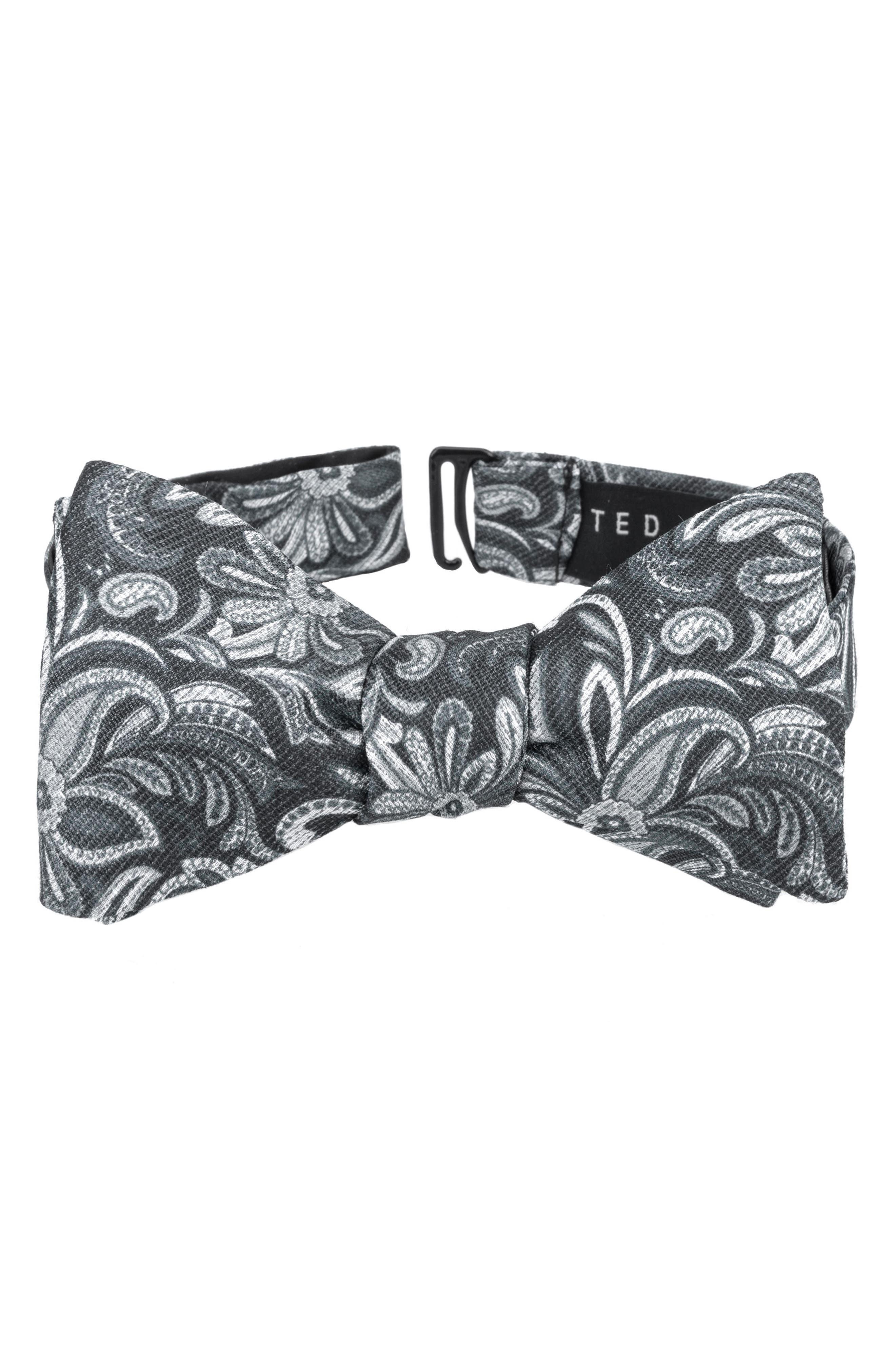 Fantastic Paisley Silk Bow Tie,                             Main thumbnail 1, color,                             001