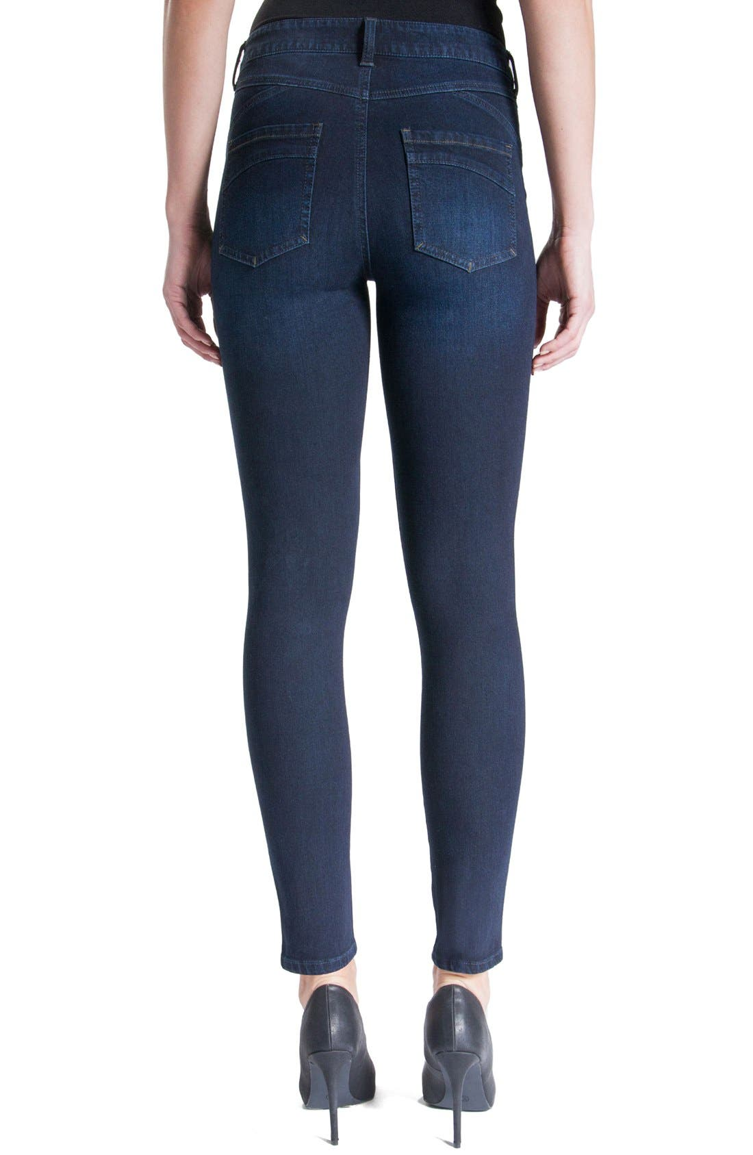 Jeans Company Piper Hugger Lift Sculpt Ankle Skinny Jeans,                             Alternate thumbnail 12, color,