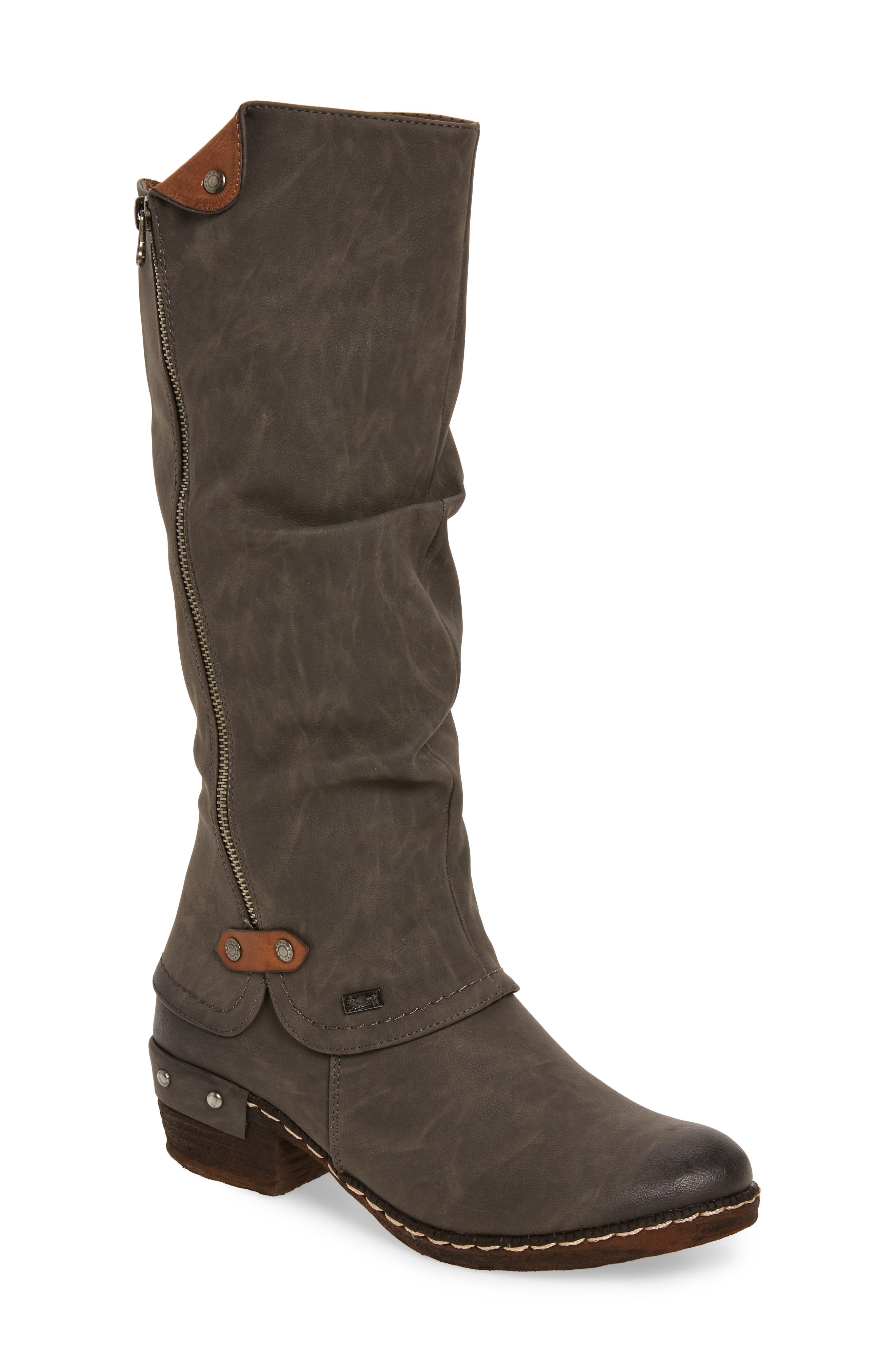'Bernadette 55' Slightly Slouchy All Weather Boot,                             Main thumbnail 1, color,                             020