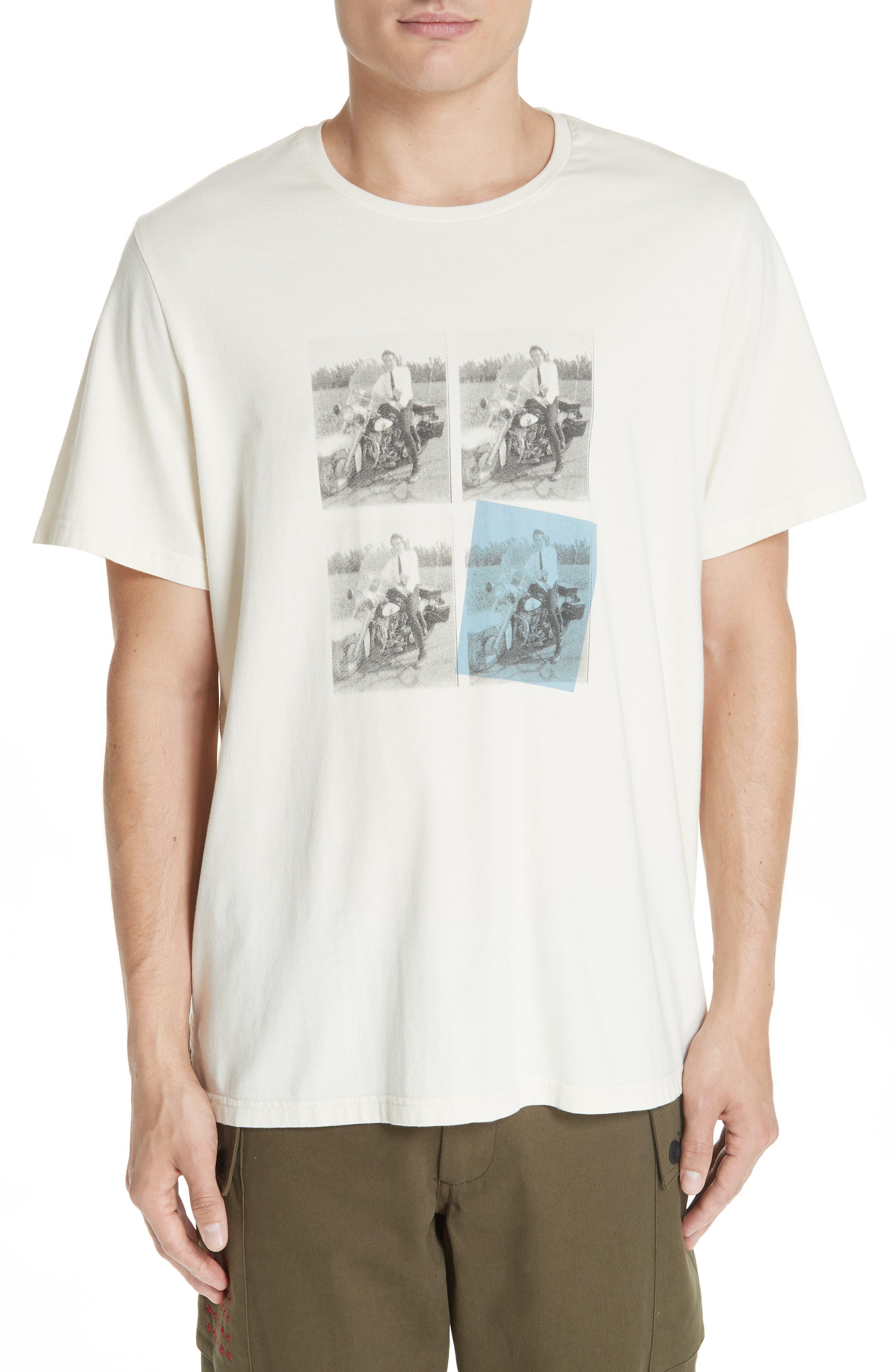 Elvis Graphic T-Shirt,                         Main,                         color, OFF WHITE