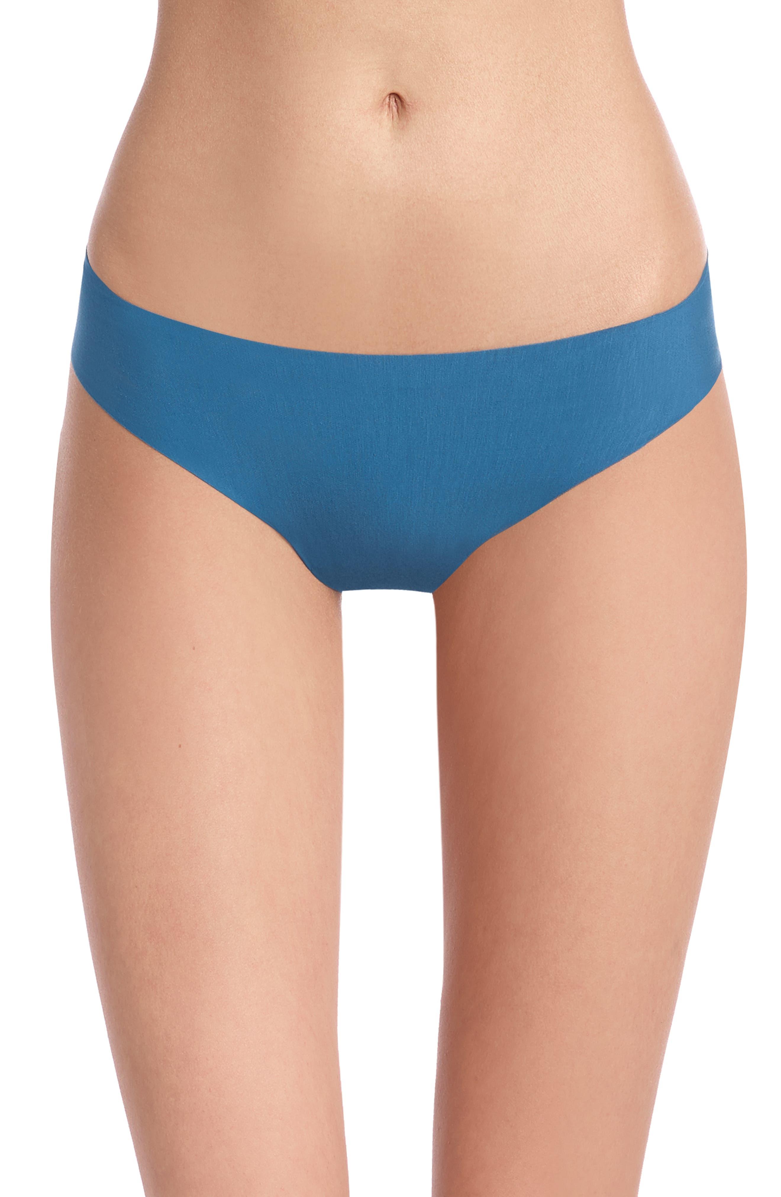 'Butter' Stretch Modal Thong,                         Main,                         color, THAI BLUE