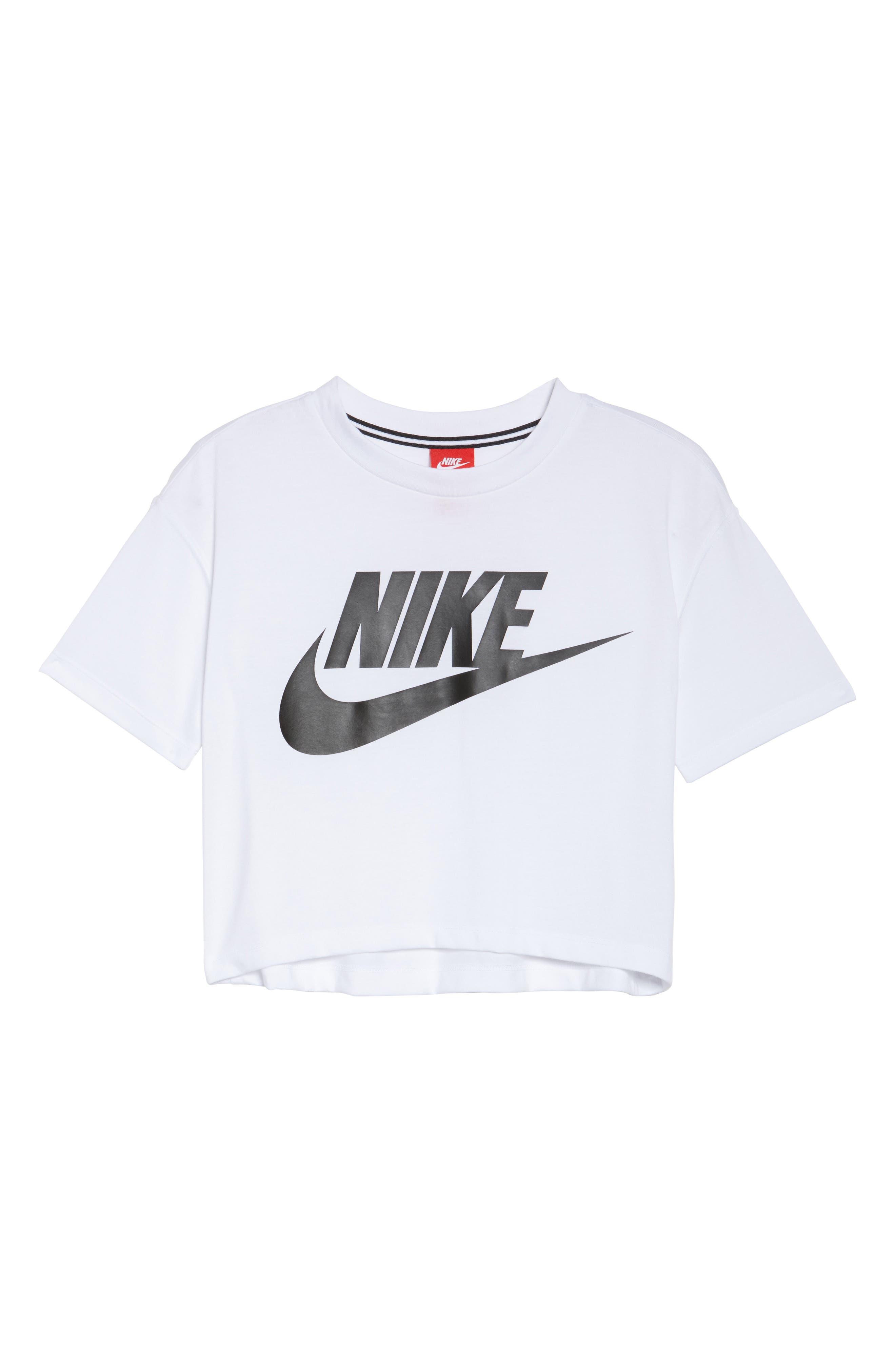 Sportswear Crop Top,                             Alternate thumbnail 7, color,                             WHITE/ BLACK