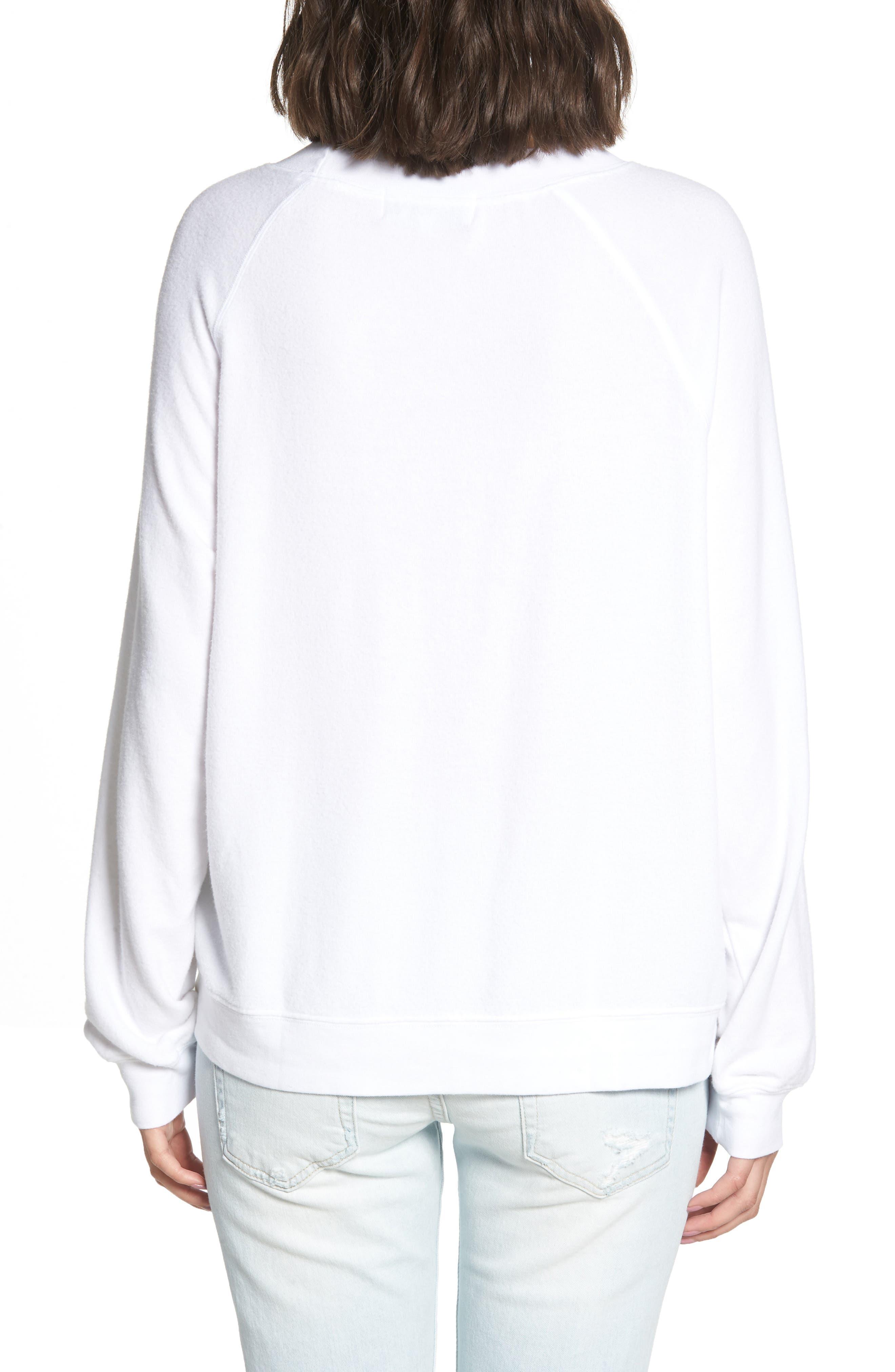 Sunshine Diet Sommers Sweatshirt,                             Alternate thumbnail 2, color,                             CLEAN WHITE
