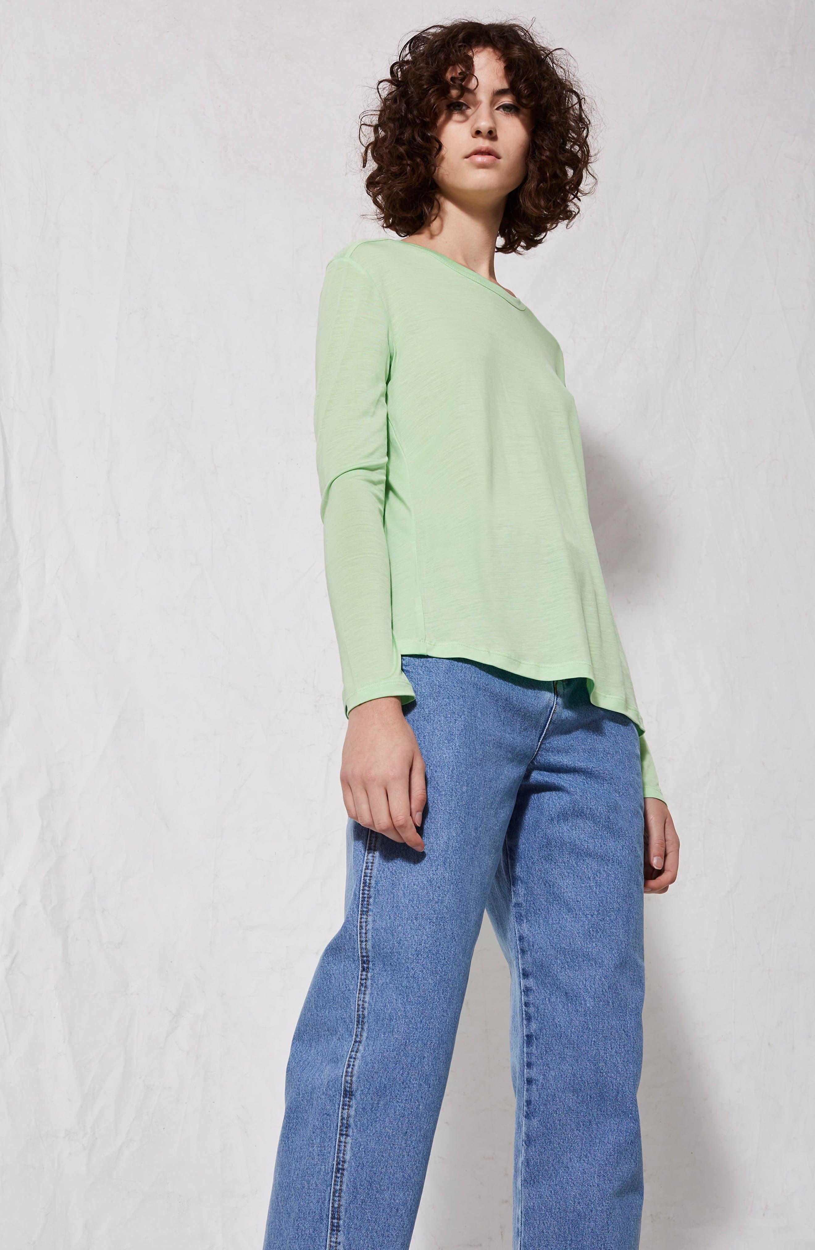 Lyocell Long Sleeve T-Shirt,                             Alternate thumbnail 23, color,