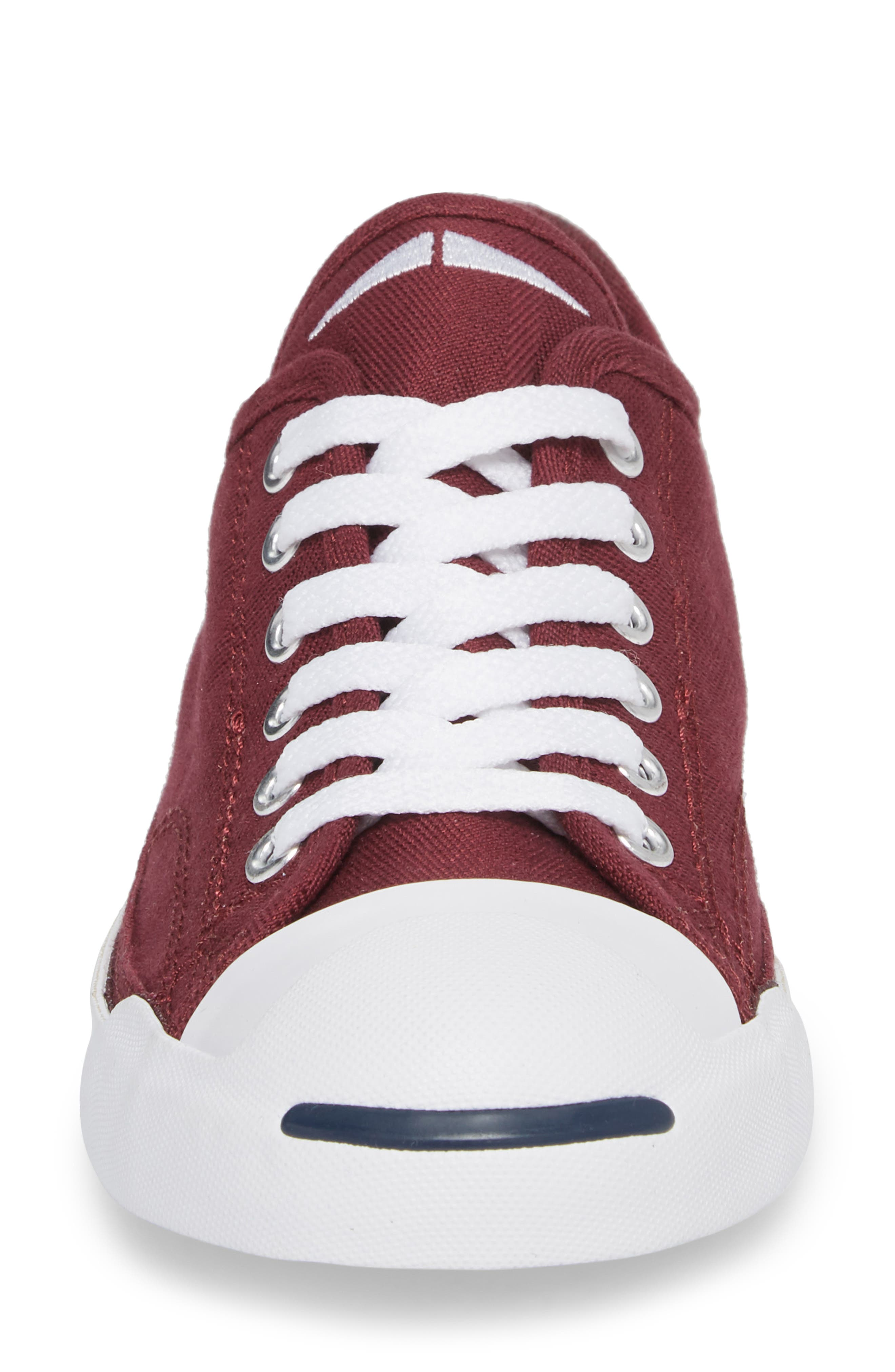Jack Purcell Low Top Sneaker,                             Alternate thumbnail 4, color,                             DARK BURGUNDY