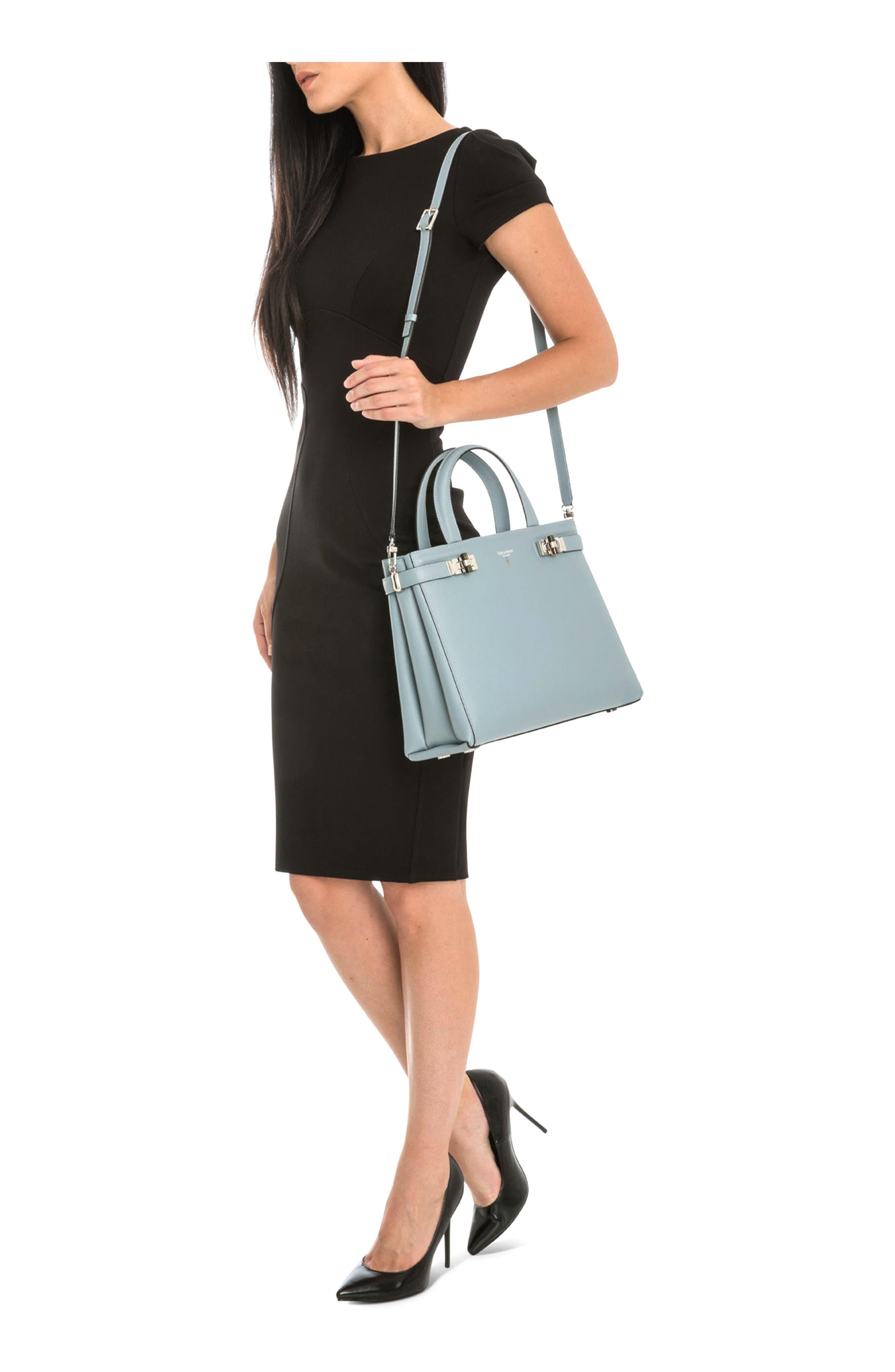 Small Meline Evolution Leather Bag,                             Alternate thumbnail 16, color,